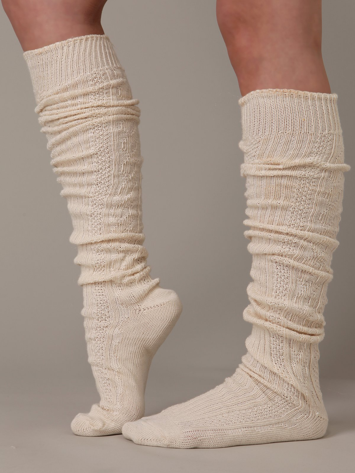 Cotton Cable Slouch Sock