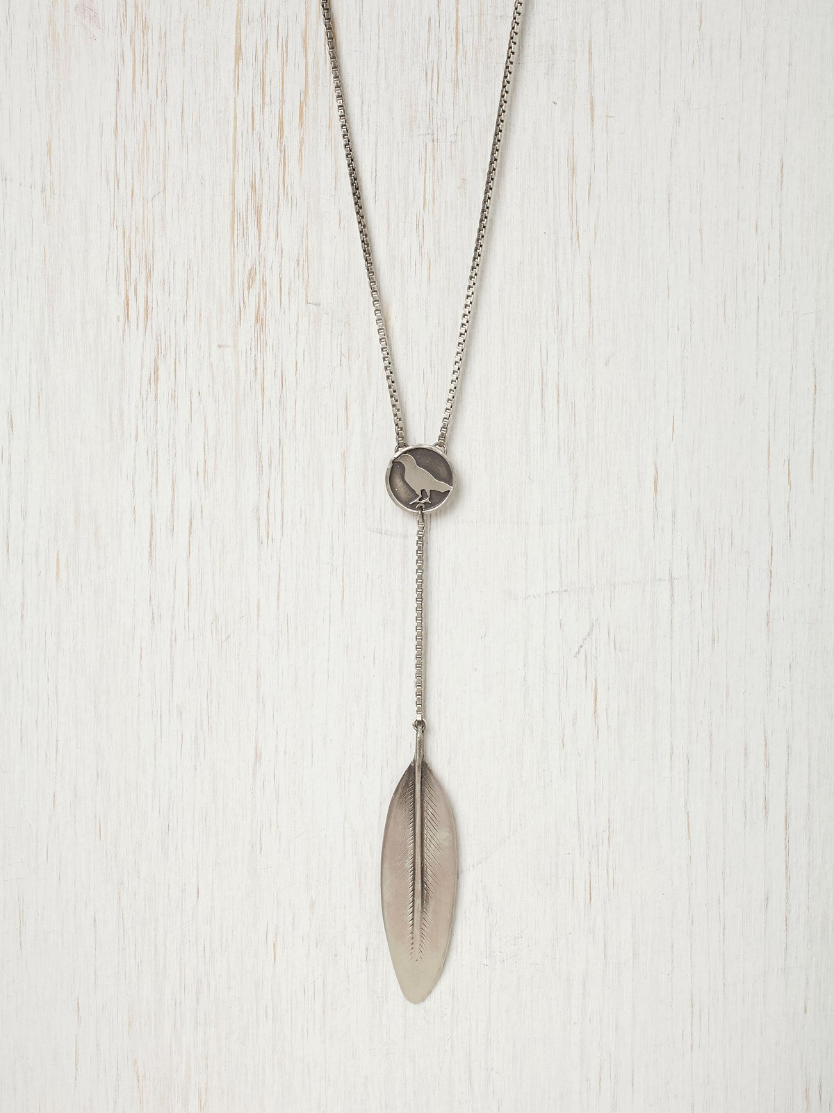 Coin & Feather Necklace