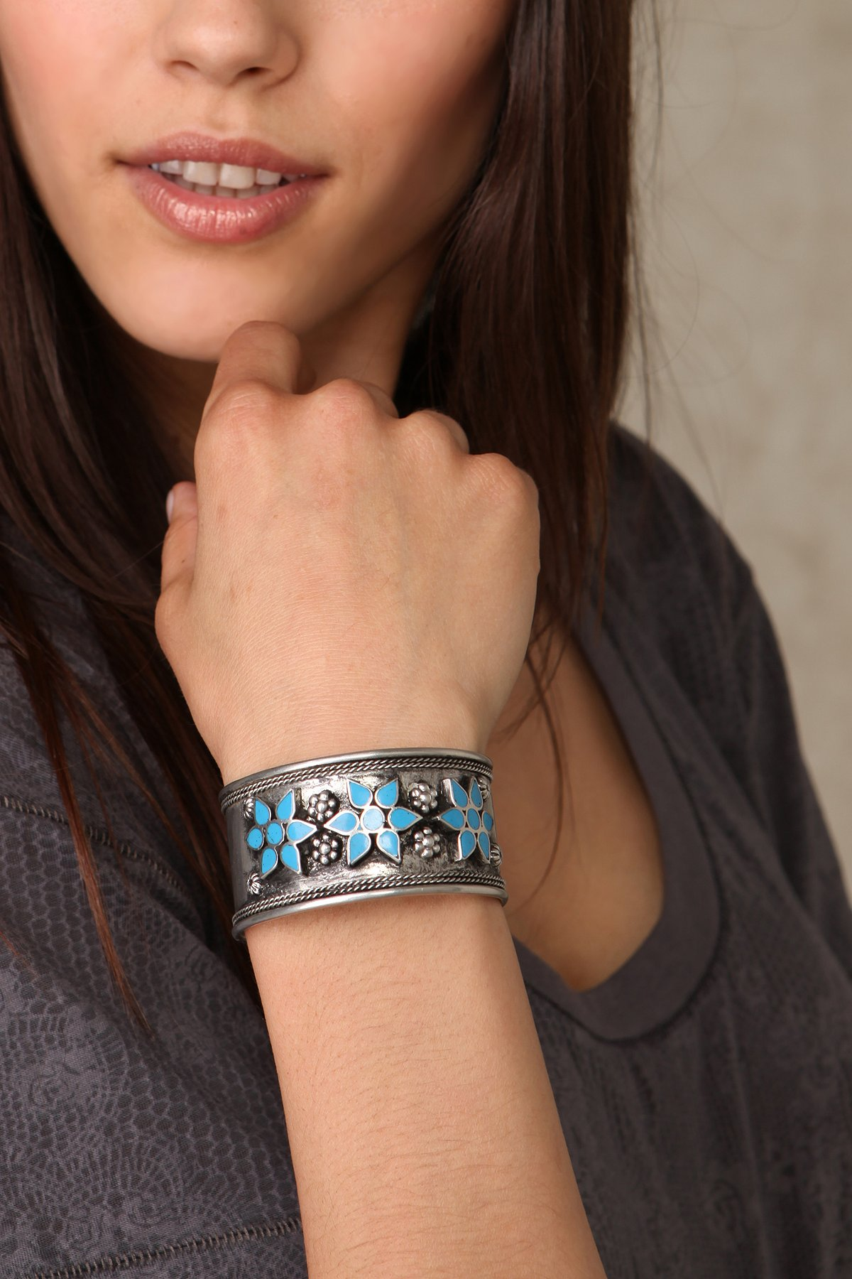 Painted Flowers Cuff