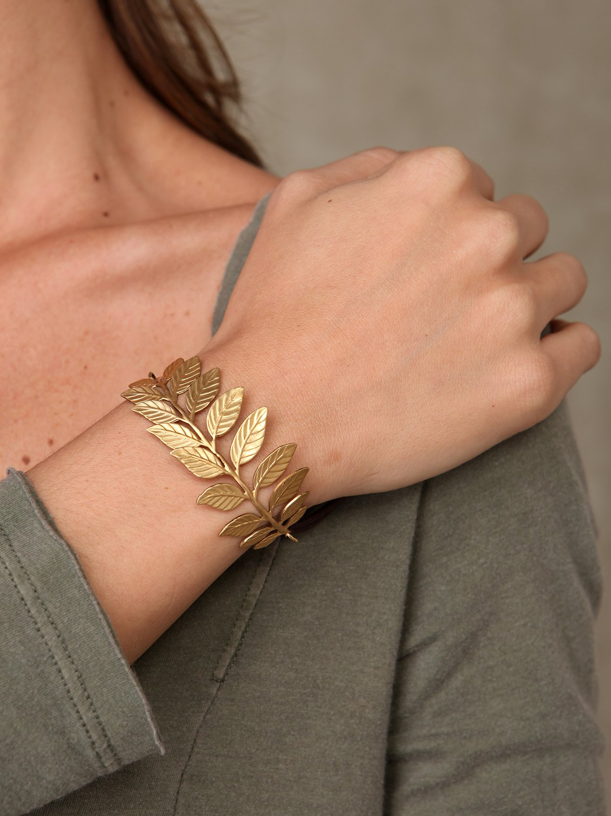 Golden Fern Bracelet