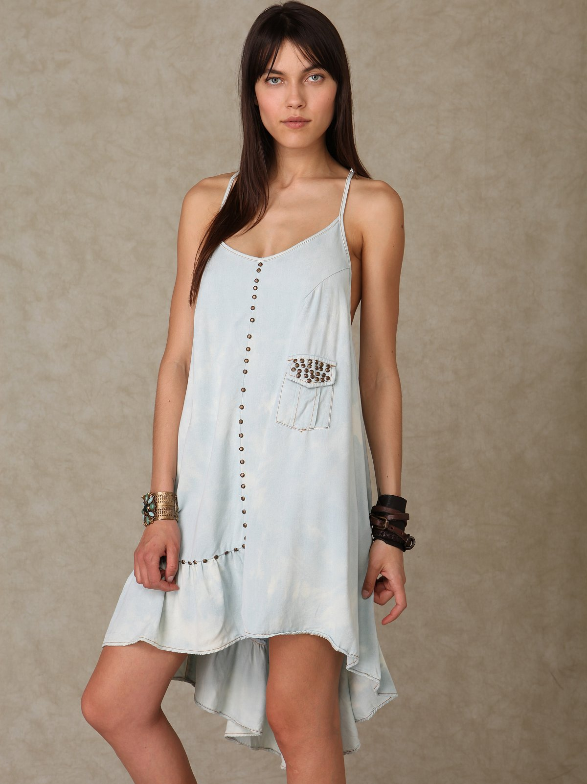 Shakuhachi Stud Denm Racerback Dress