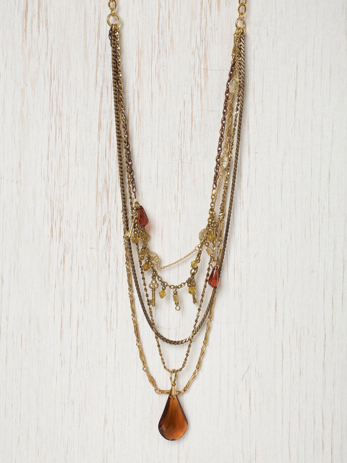 3 Keys Of Amber Necklace