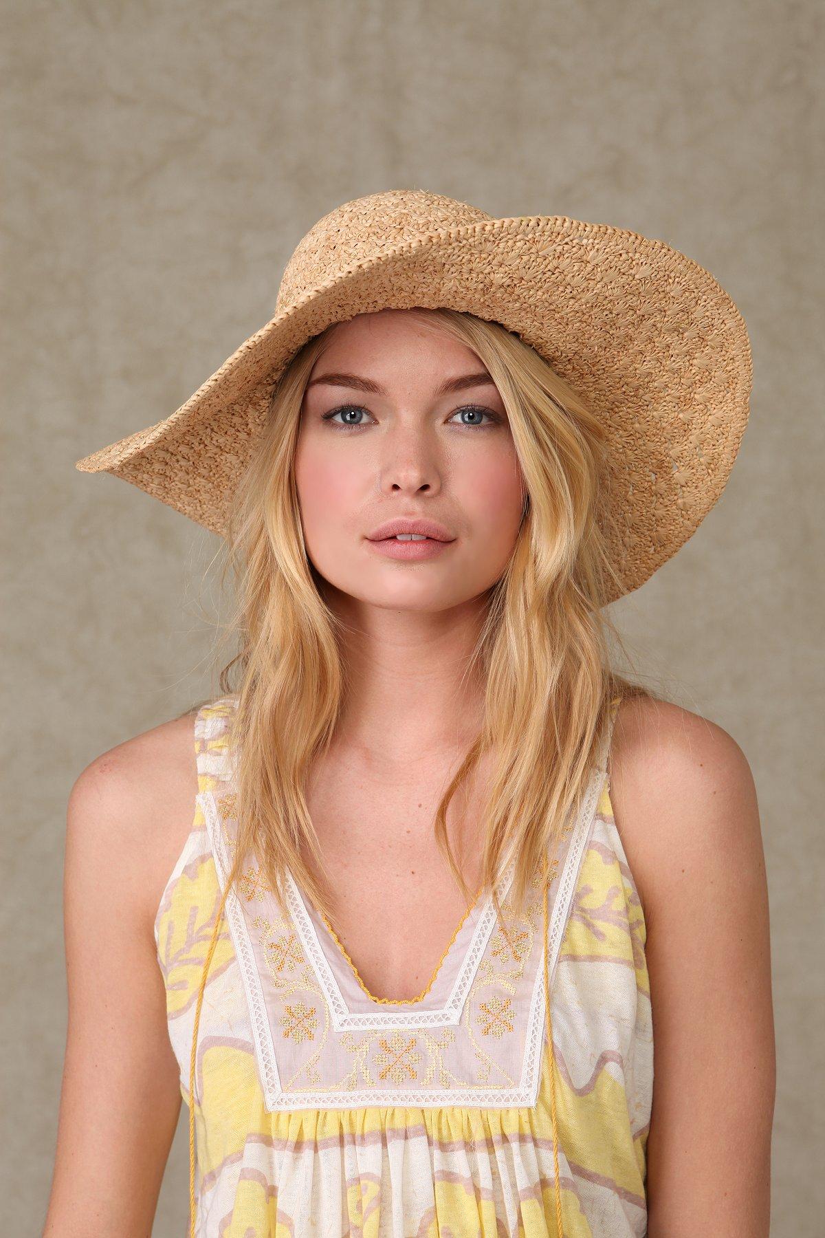 Goldie Straw Floppy Hat