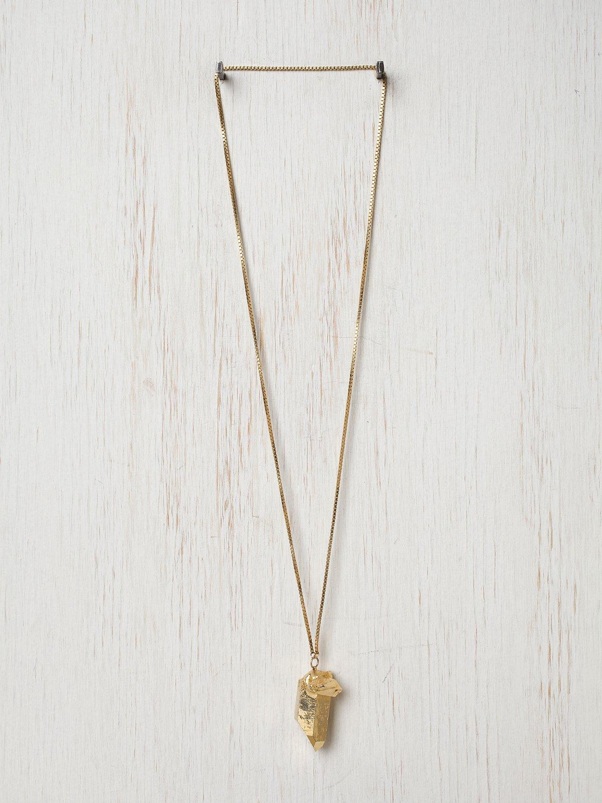 Golden Quartz Pendant