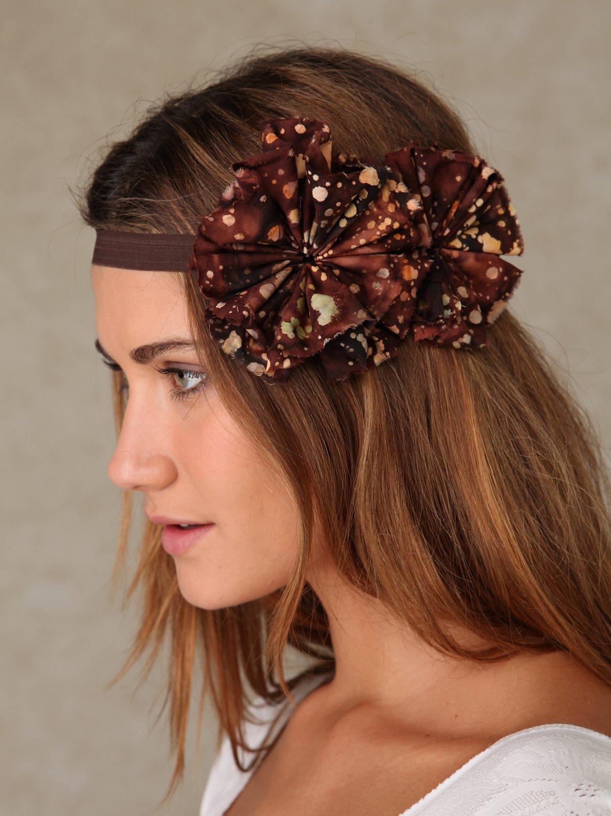 Sunfaded Flower Headband