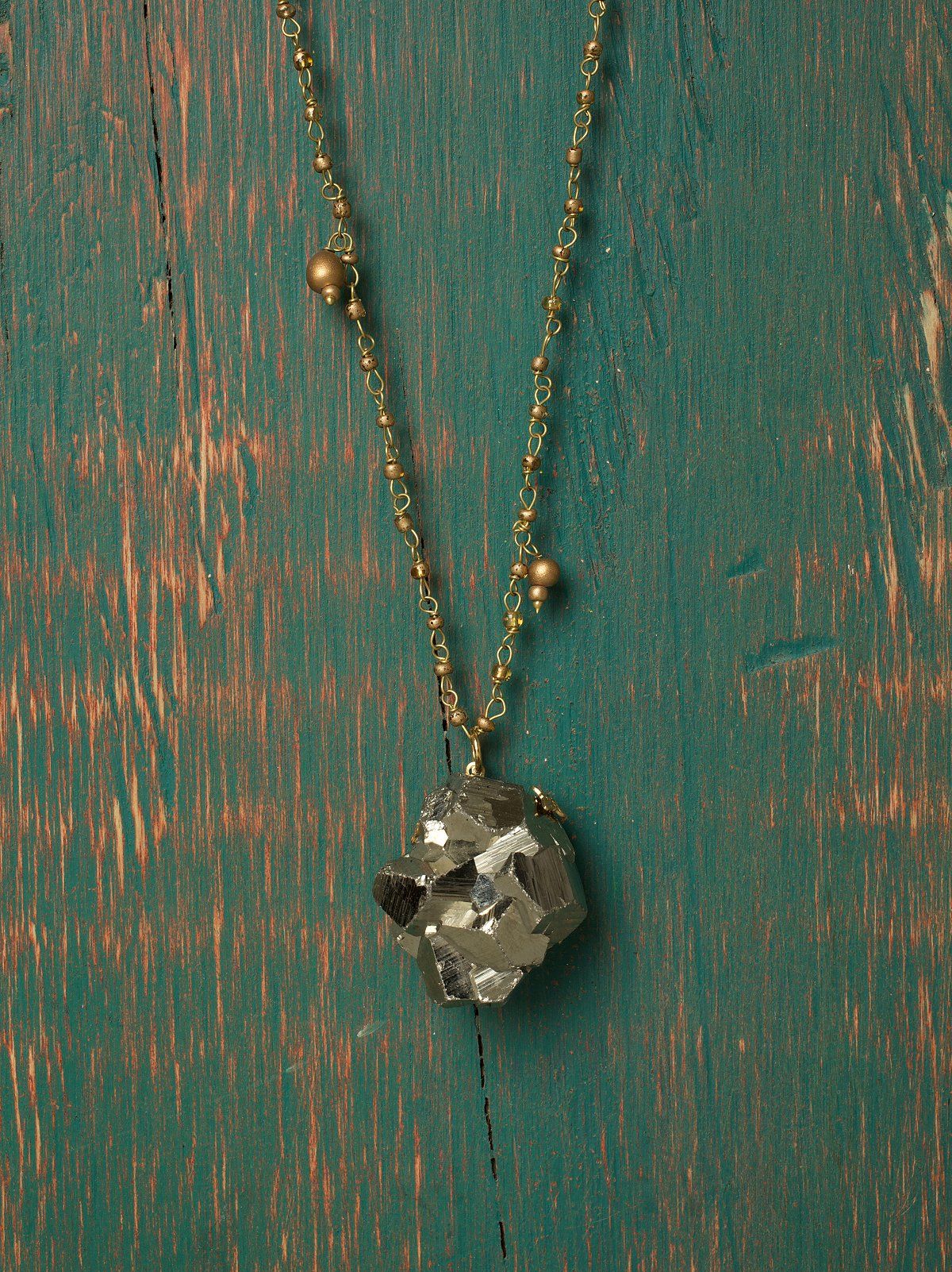 Fools Gold Pendant Necklace