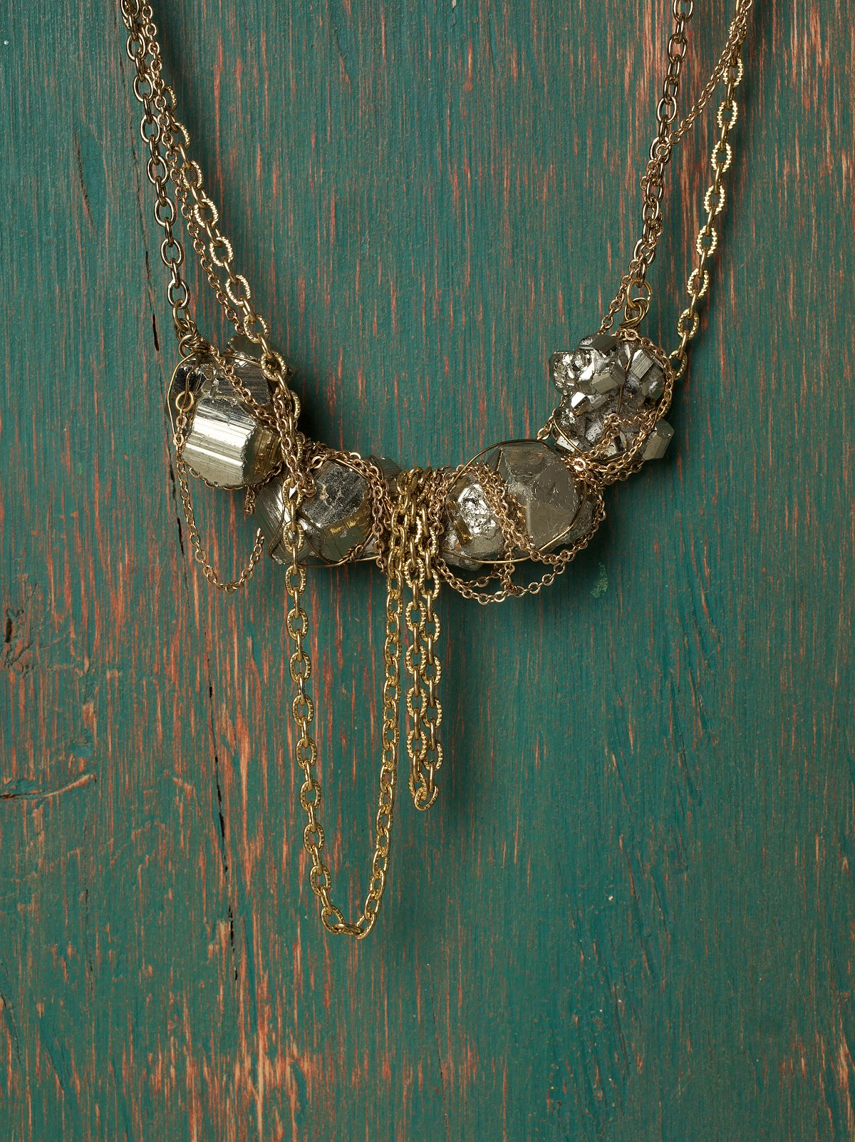Fools Gold Row Necklace