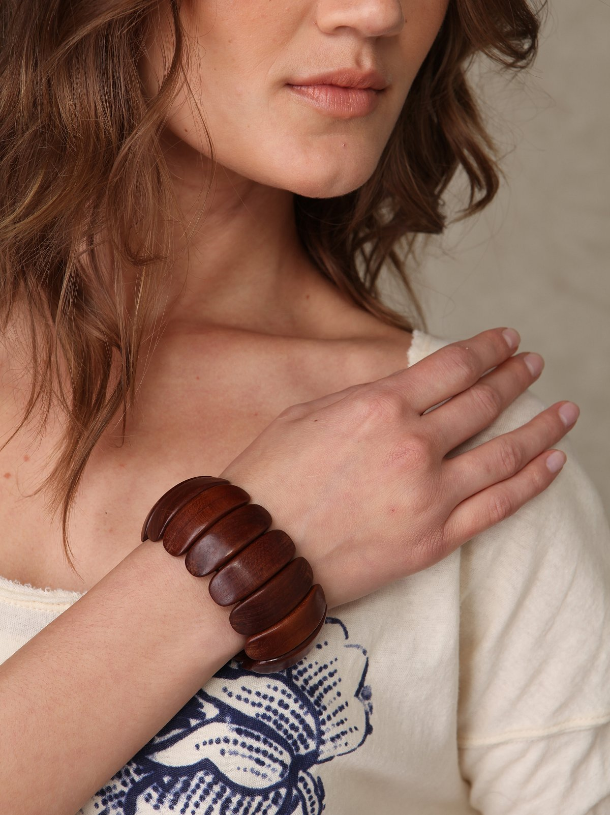 Wooden Beads Bangle