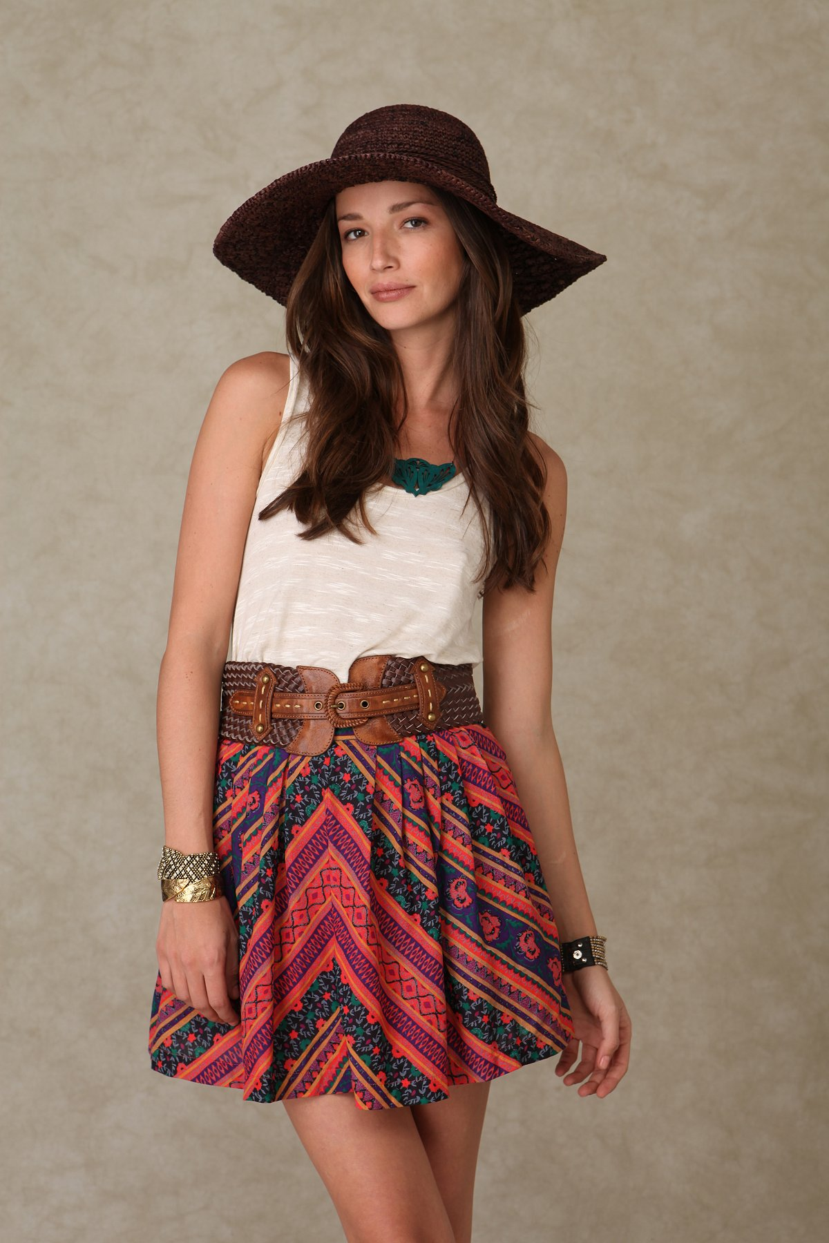 Henna Cotton Skirt