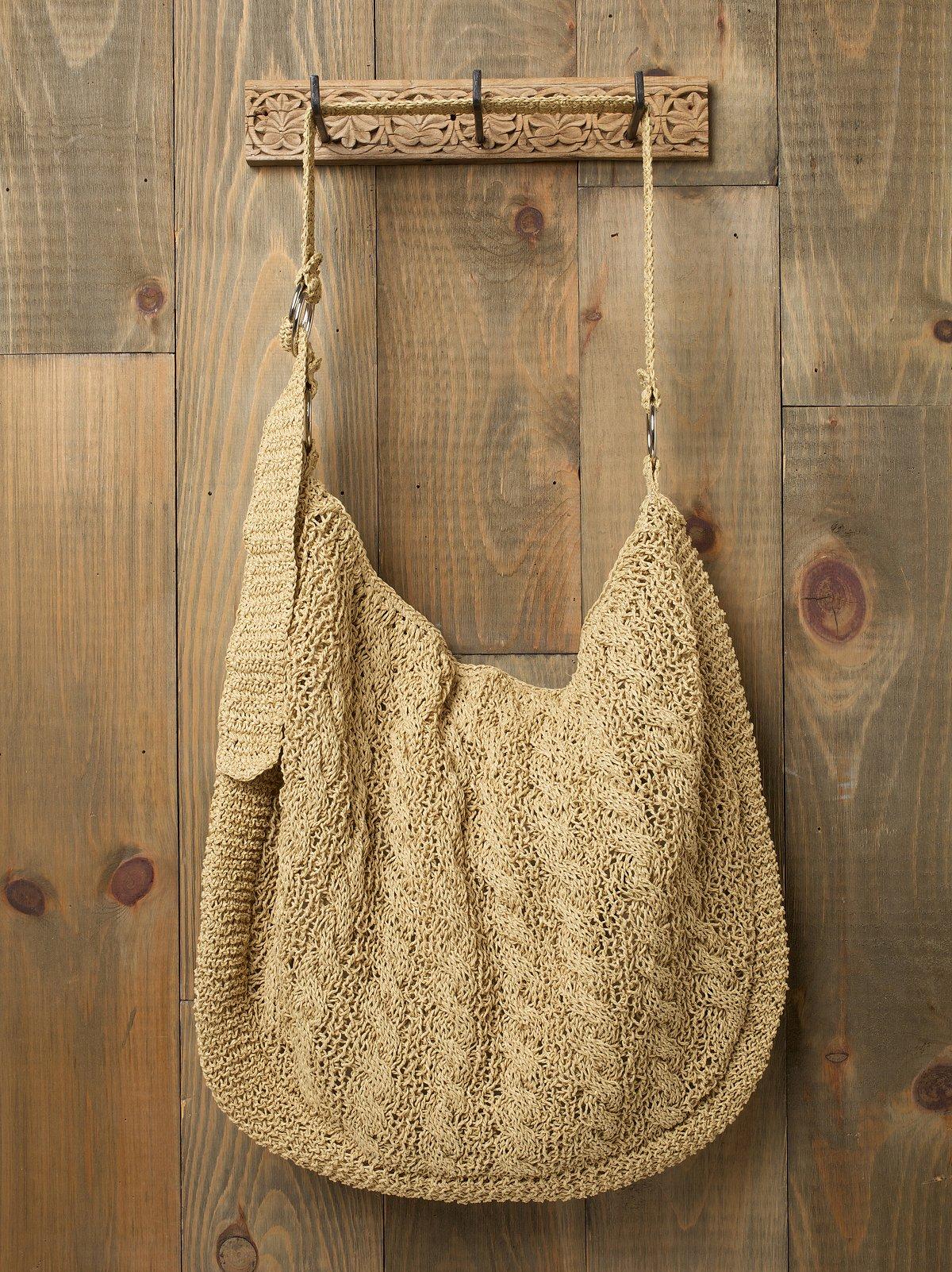 Oversized Slouchy Straw Bag