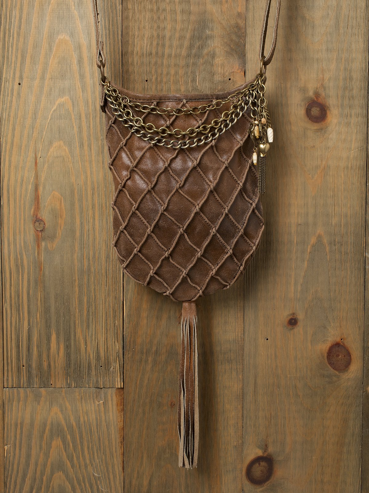 Leather Basket Weave Bag