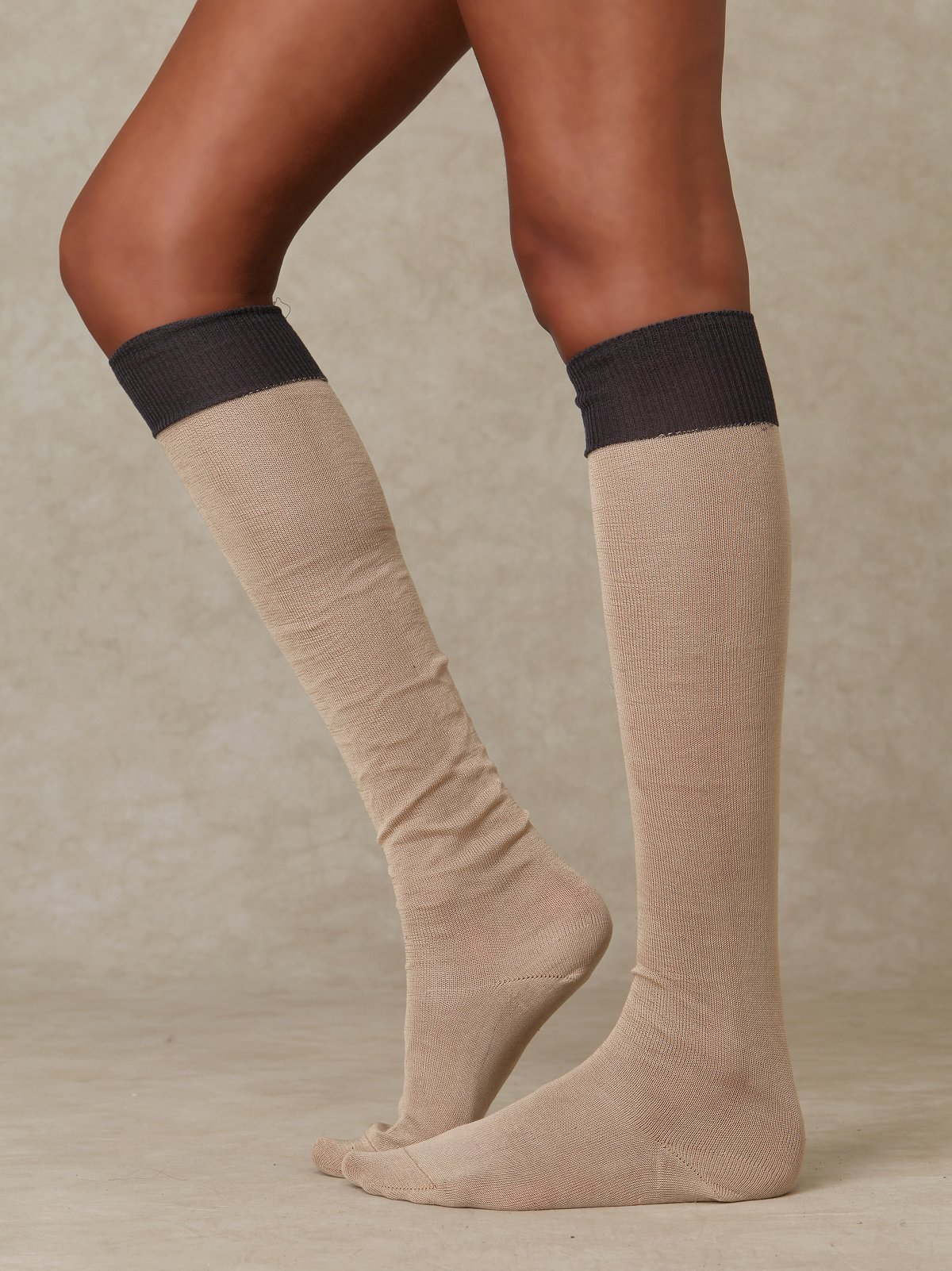 Mercerized Cotton Tall Sock