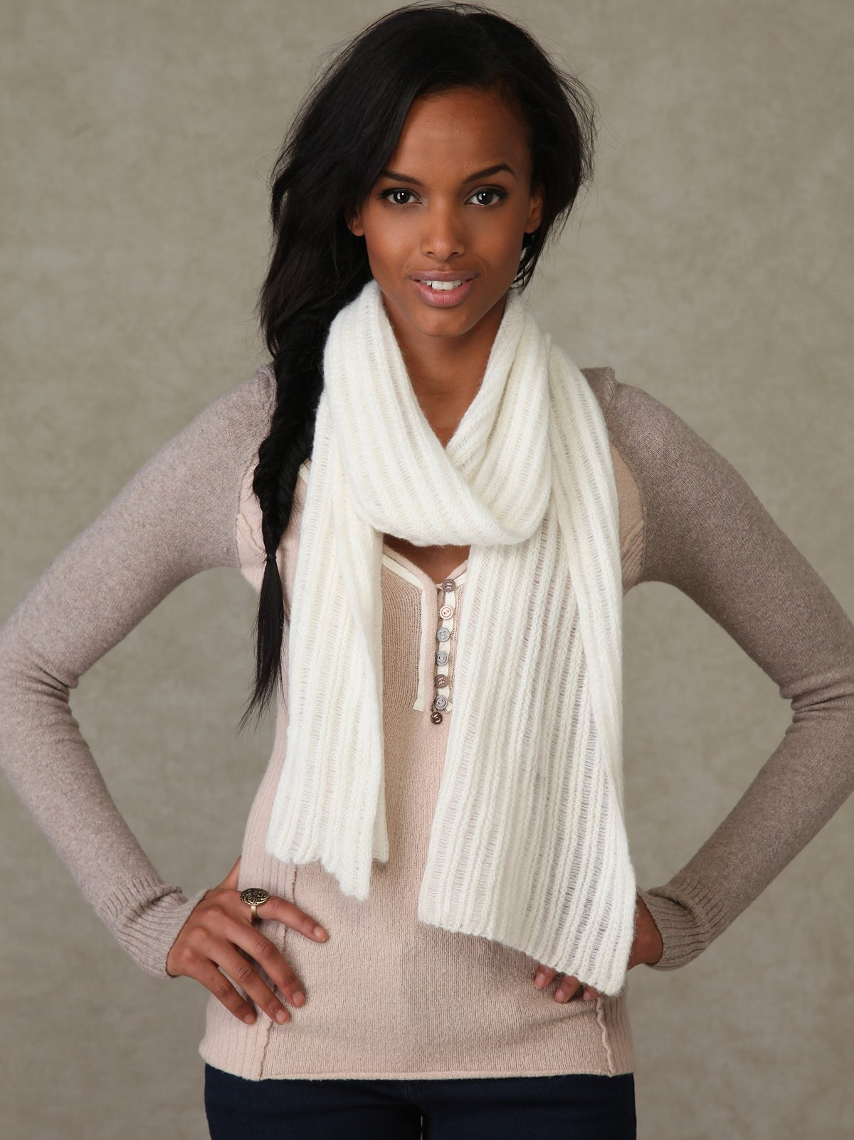 Ladder Rib Scarf