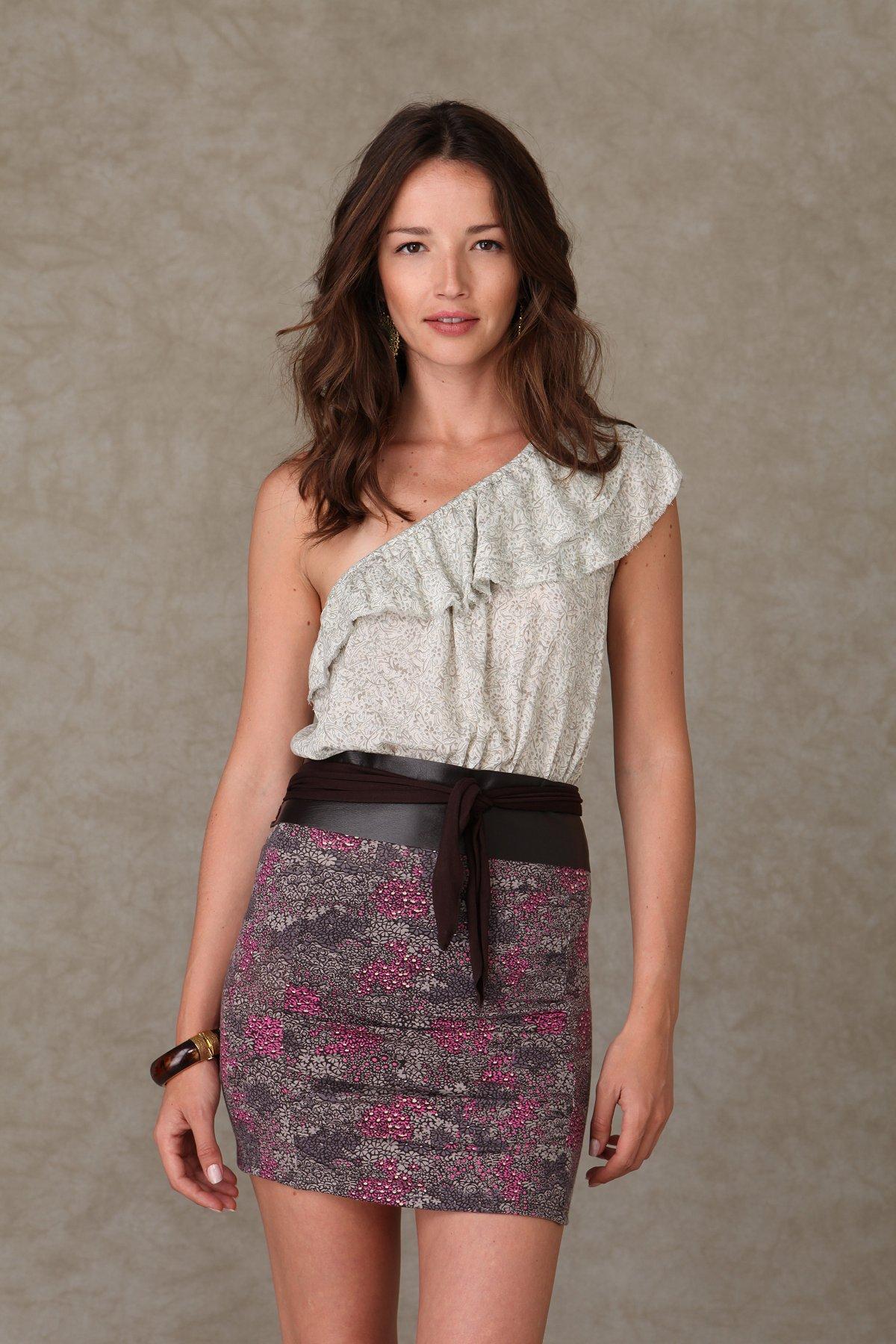 Printed Body Con Skirt