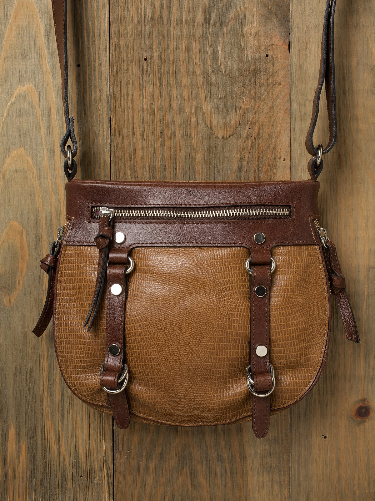 Reptile Zip Bottom Crossbody