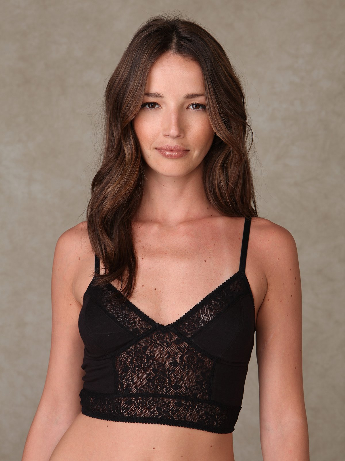 Pieced Lace Cropped Bralette