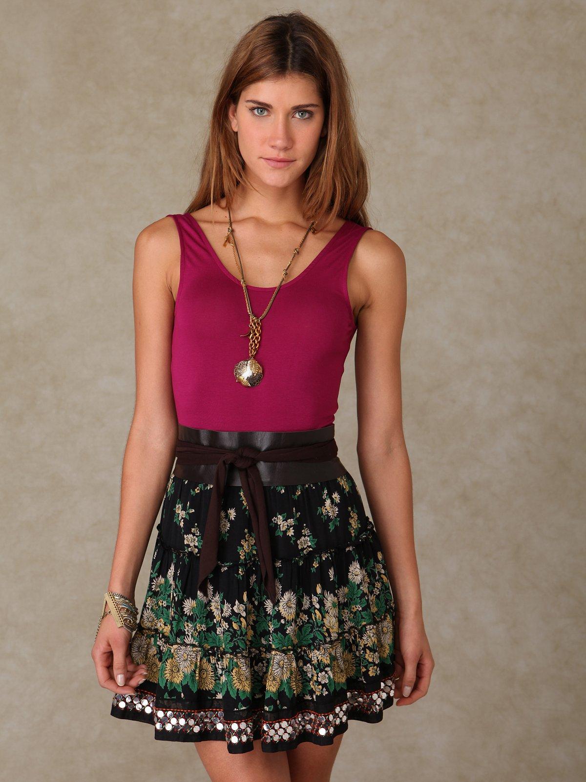 Floral Caravan Skirt