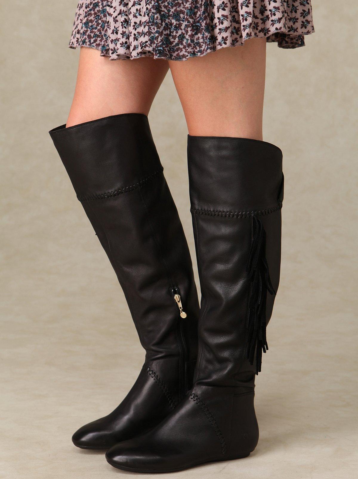 Tessa Fringe Tall Boot