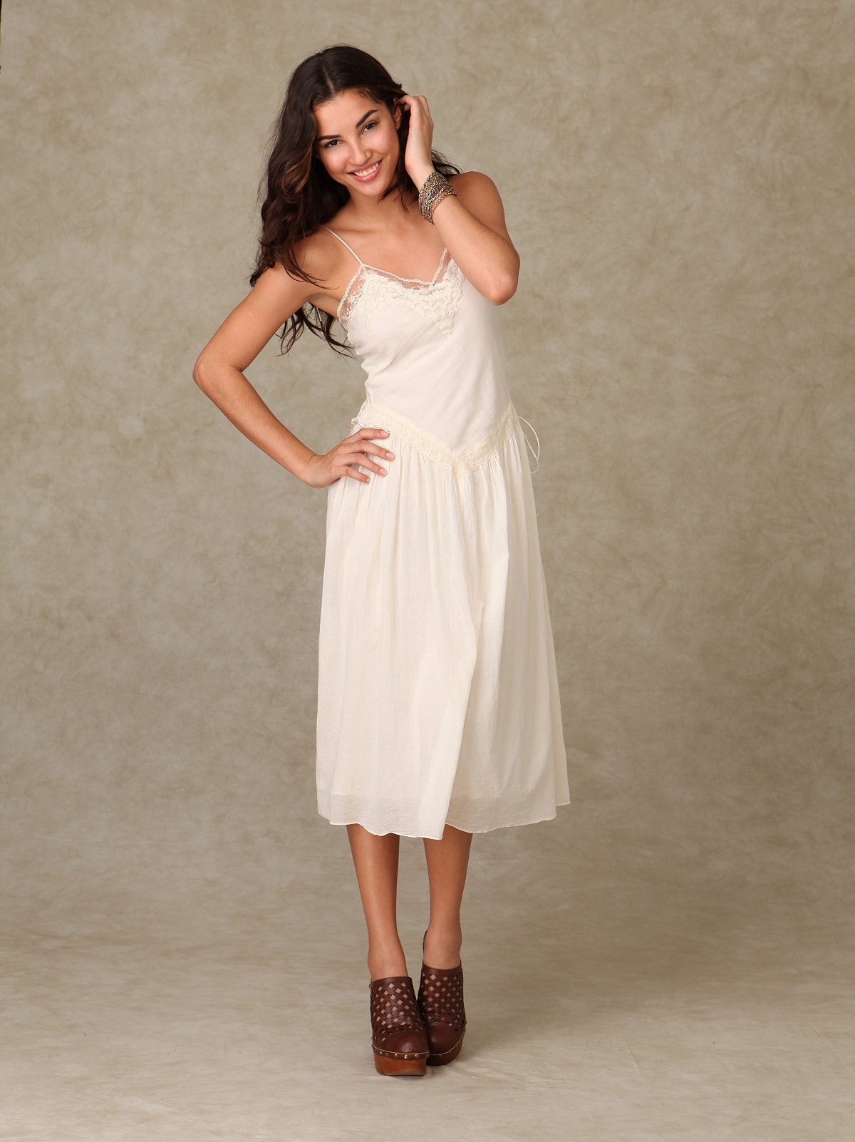 Beyond Vintage Ivory Lace Maxi Dress at Free People Clothing Boutique