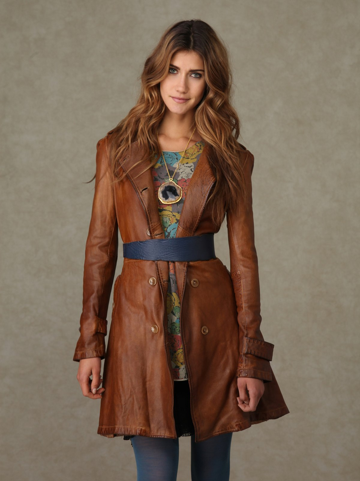 Blur Leather Trench