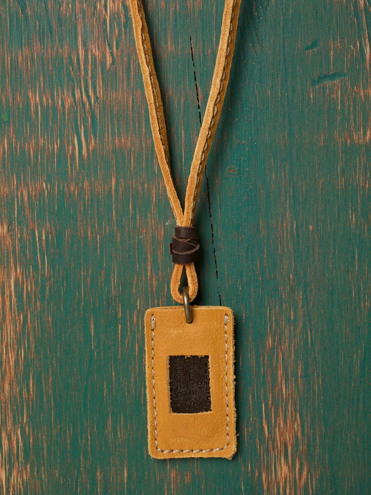 Leather ID Tag Necklace