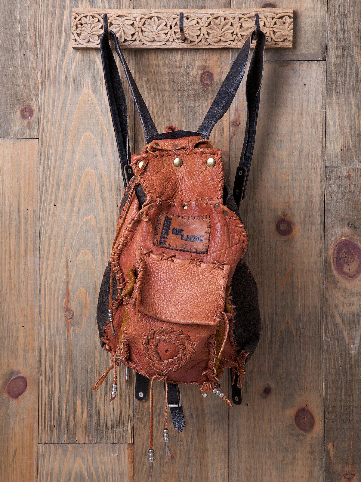 Vintage Patched Travels Backpack