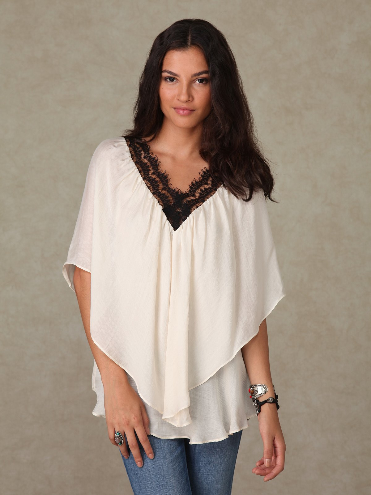 Graham & Spencer Lace Voluminous Top