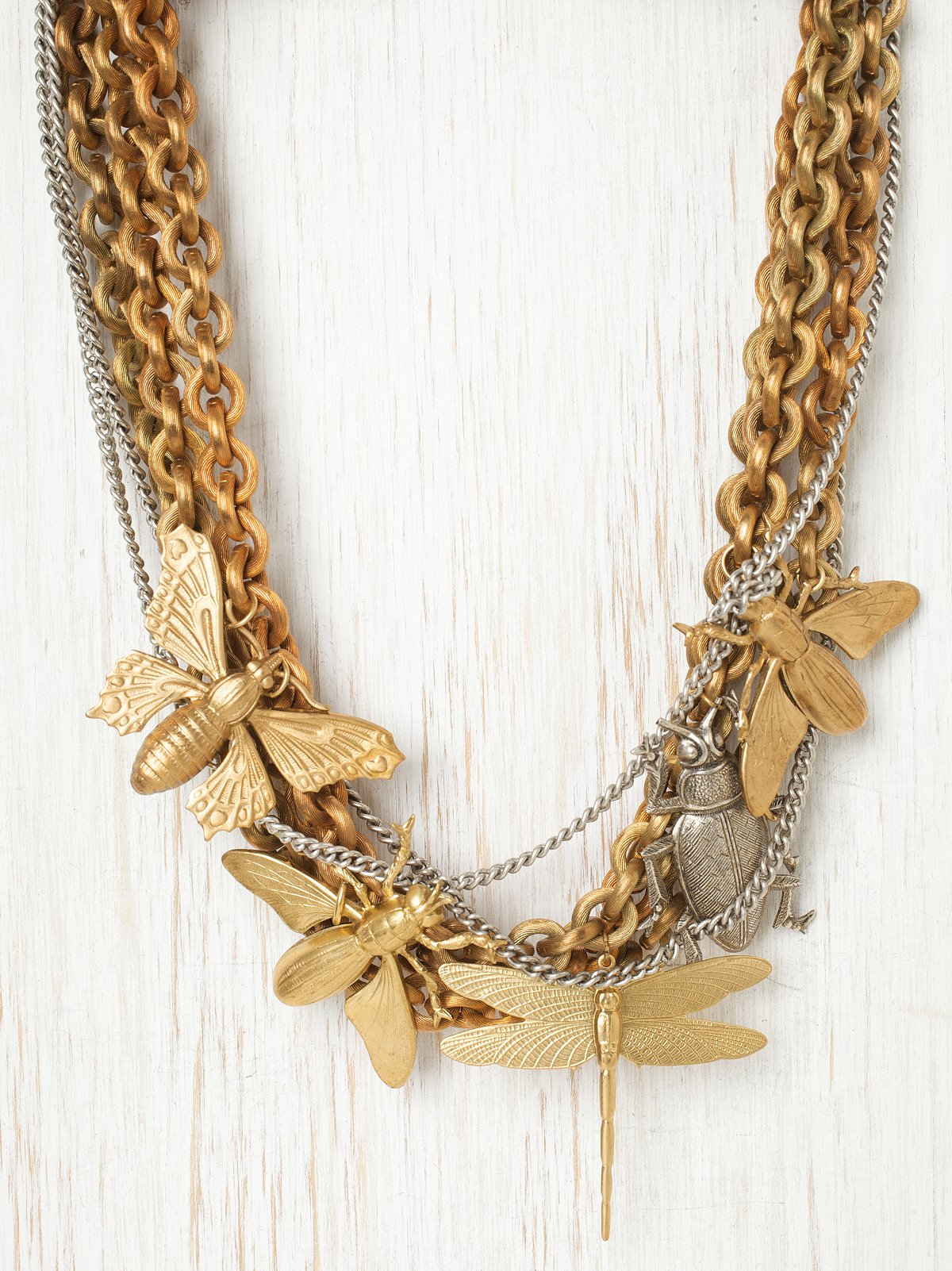 Winged Insect Necklace