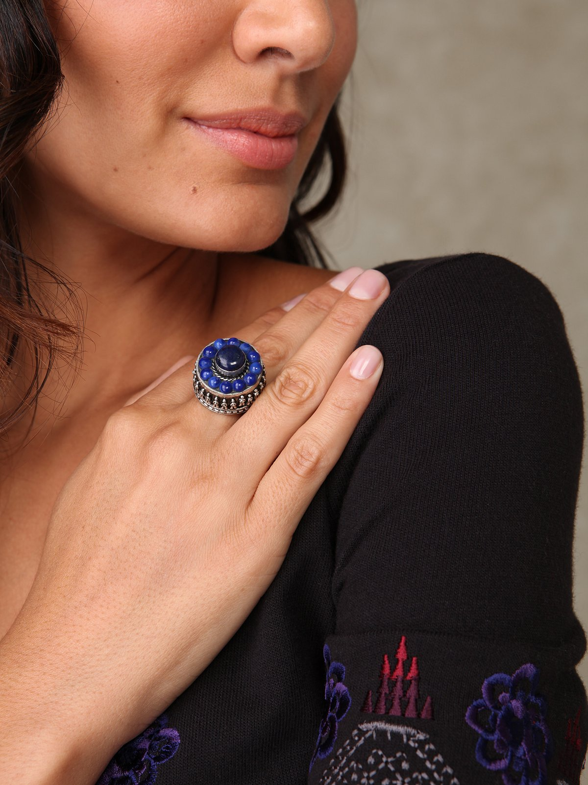 Lapis Stone Ring