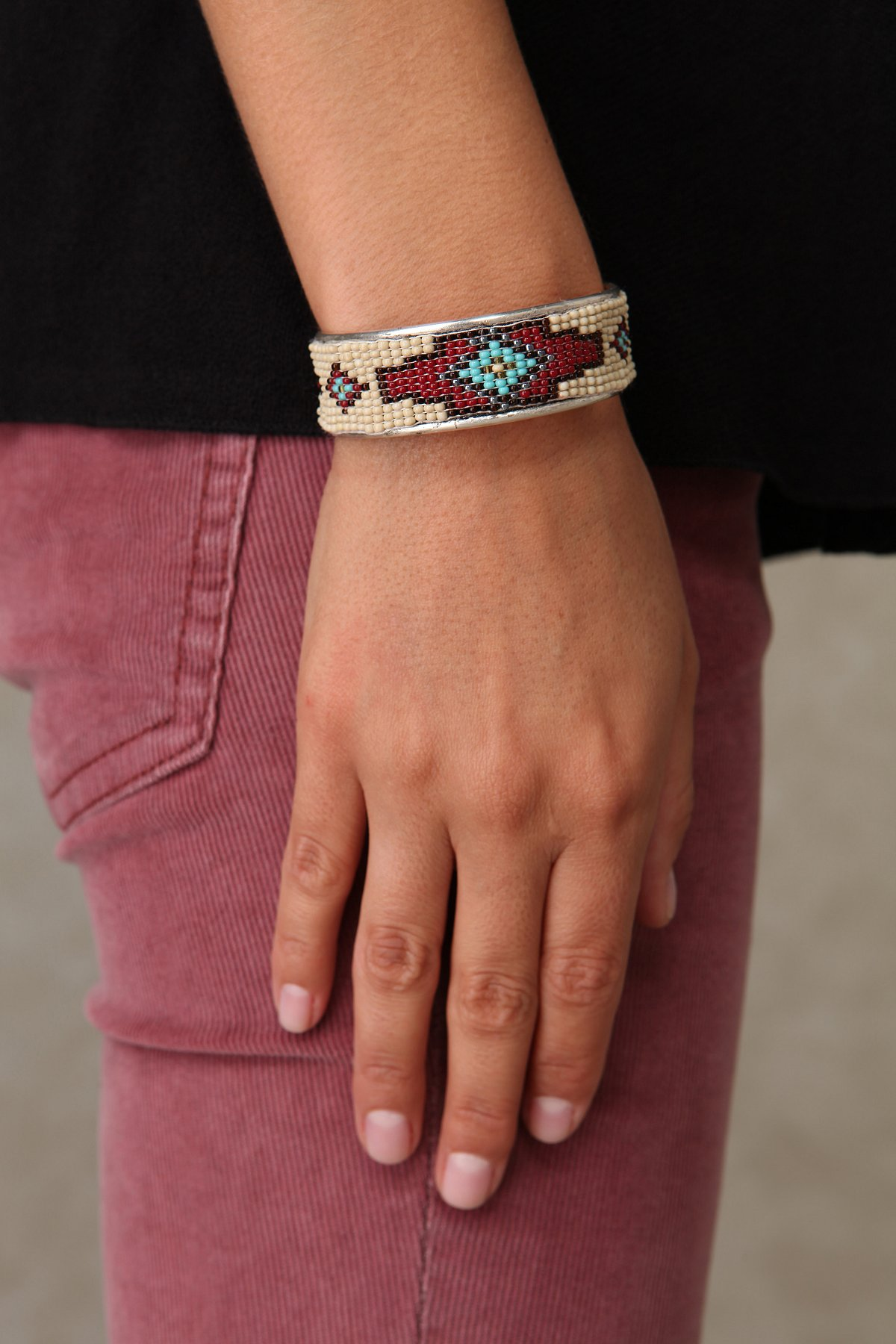 Diamond Beaded Cuff