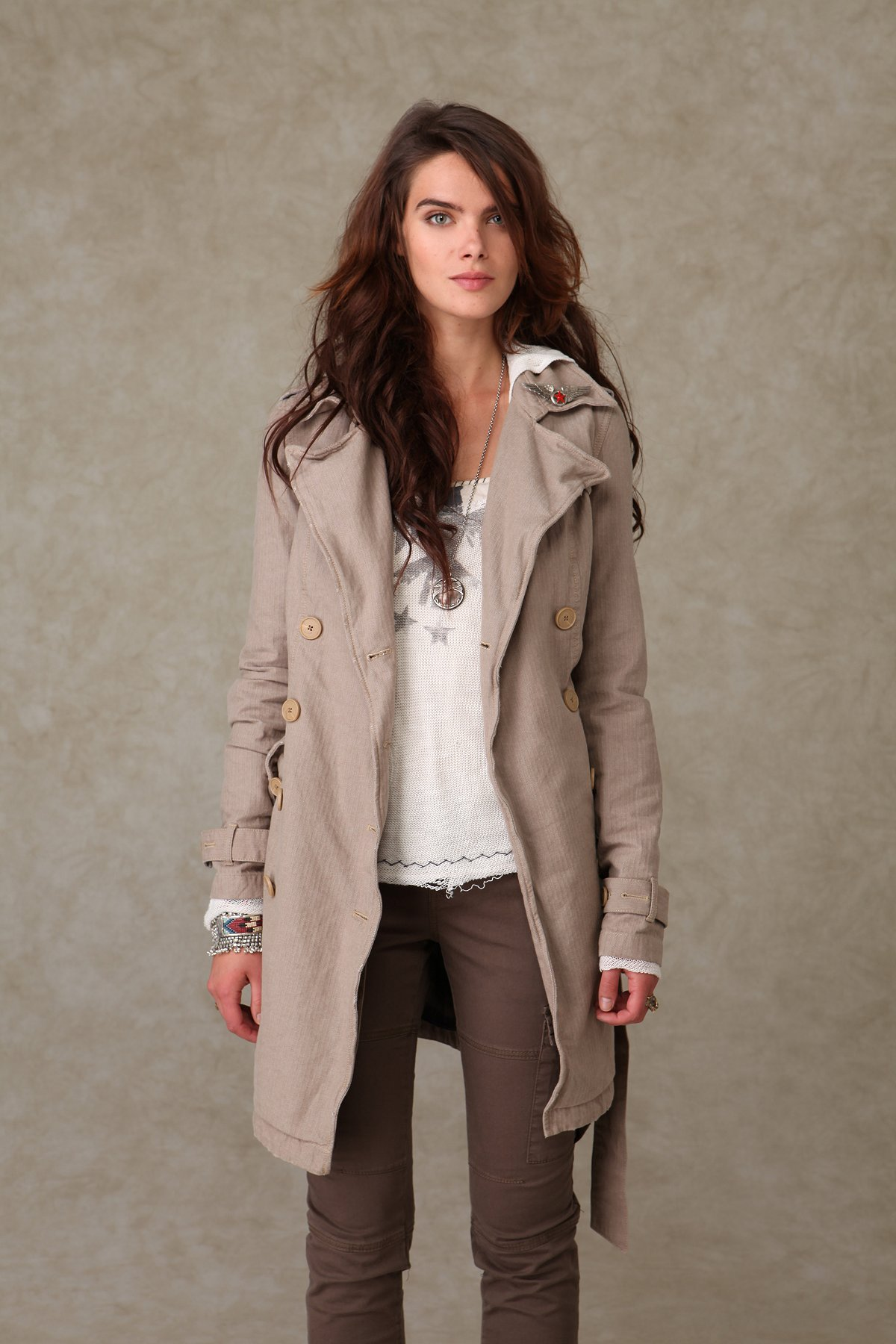We the Free Rugged Trench Coat