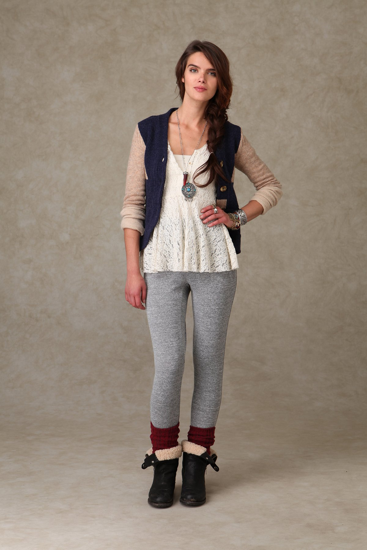 Buttoned Slouch Pant