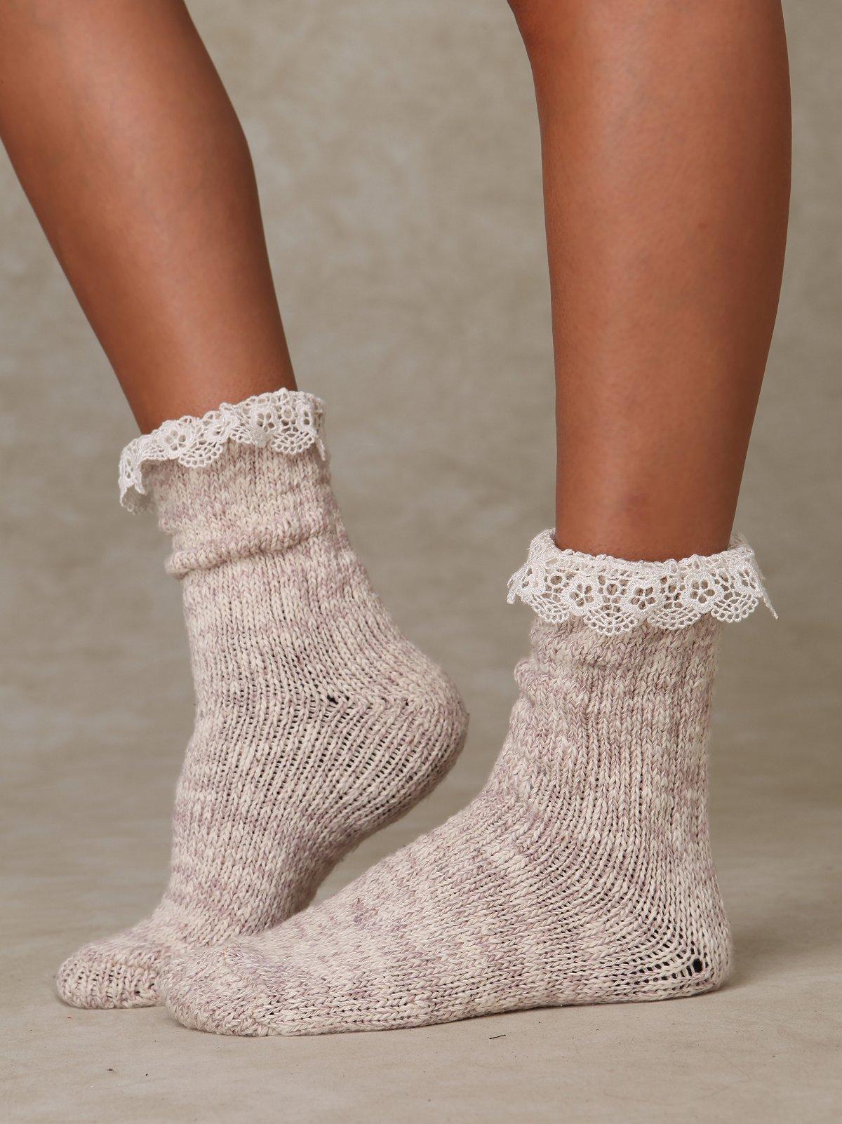 Heather Rag Sock
