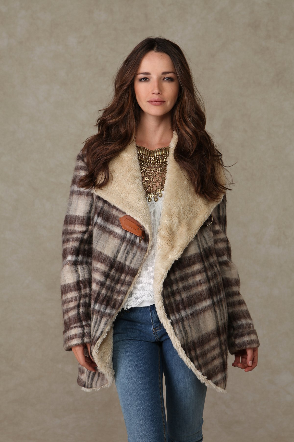 We the Free Plaid Over Sherpa Jacket