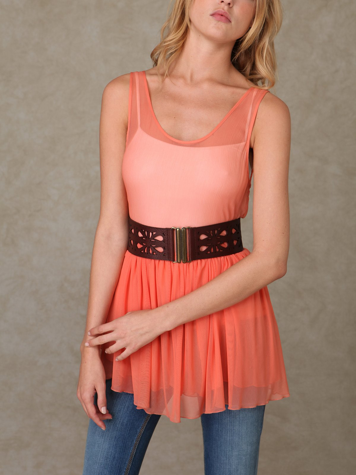 Cutout Stretch Waist Belt