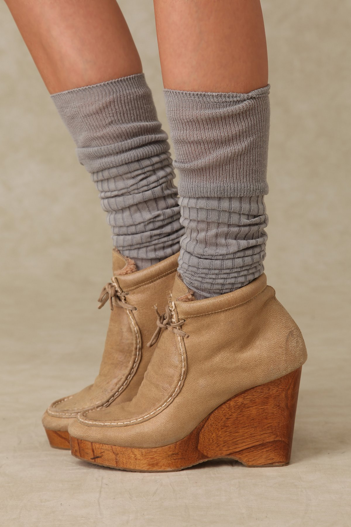 Shearling Tie Ankle Boot