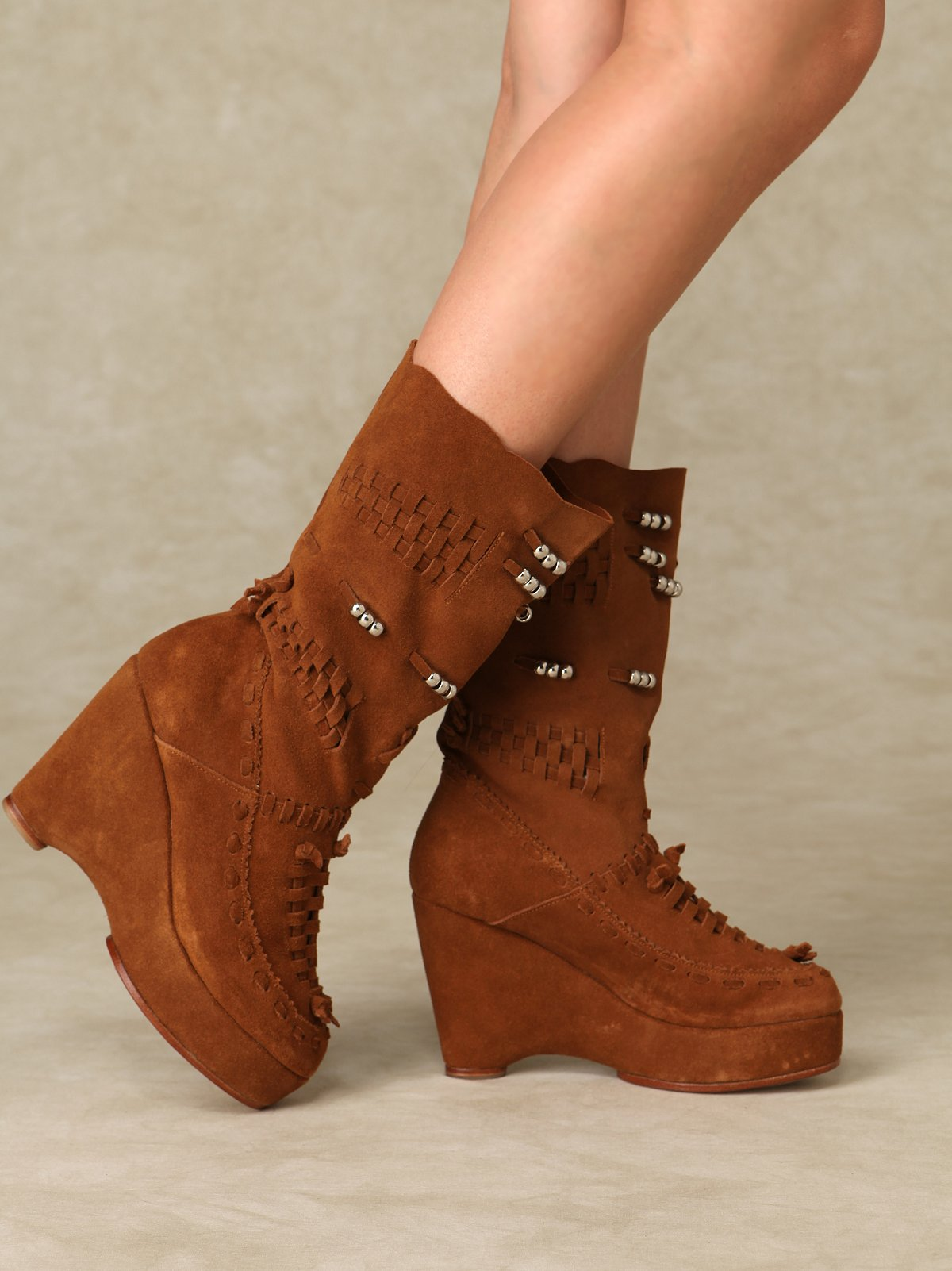 Moccasin Wedge Boot