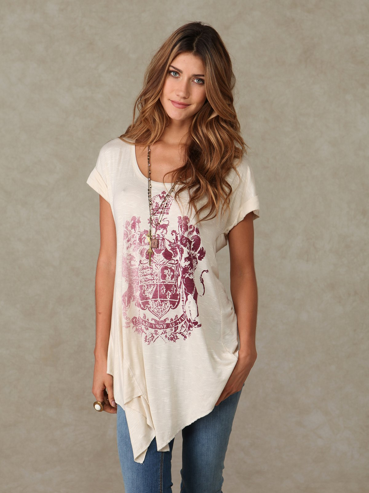 We the Free Printed Trapeze Tunic