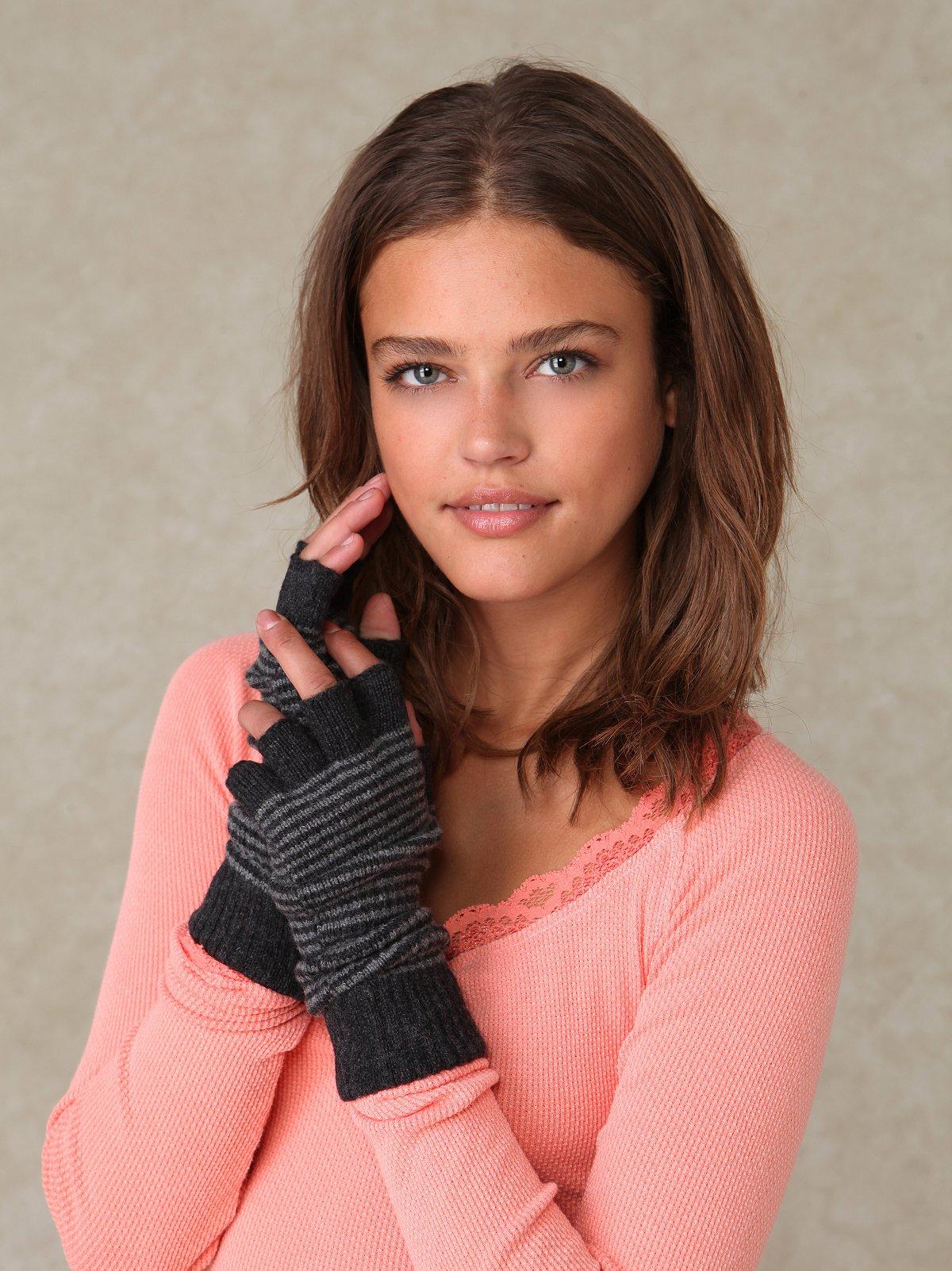 Stripe Fingerless Gloves