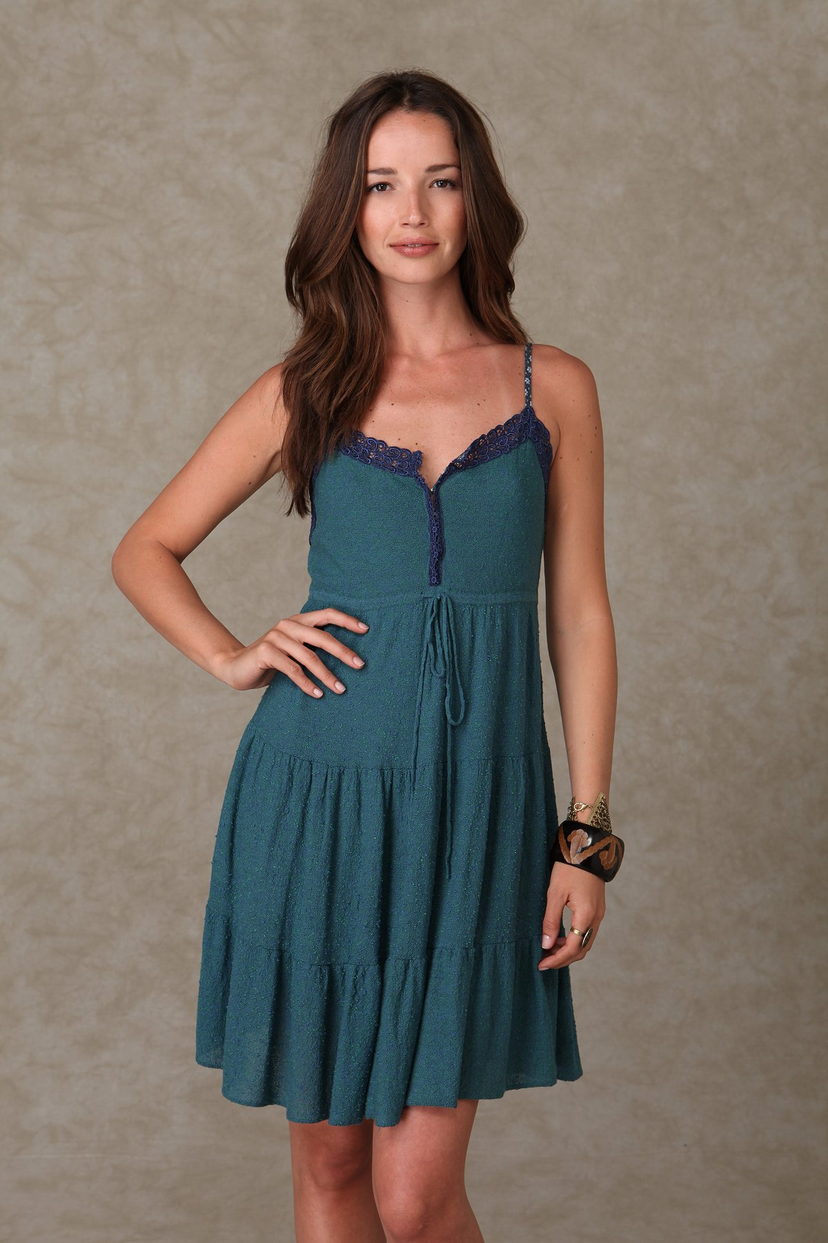Solid Tiered Knit Dress
