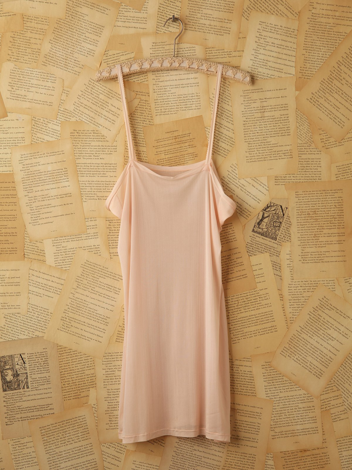 Vintage Silk Light Pink Slip