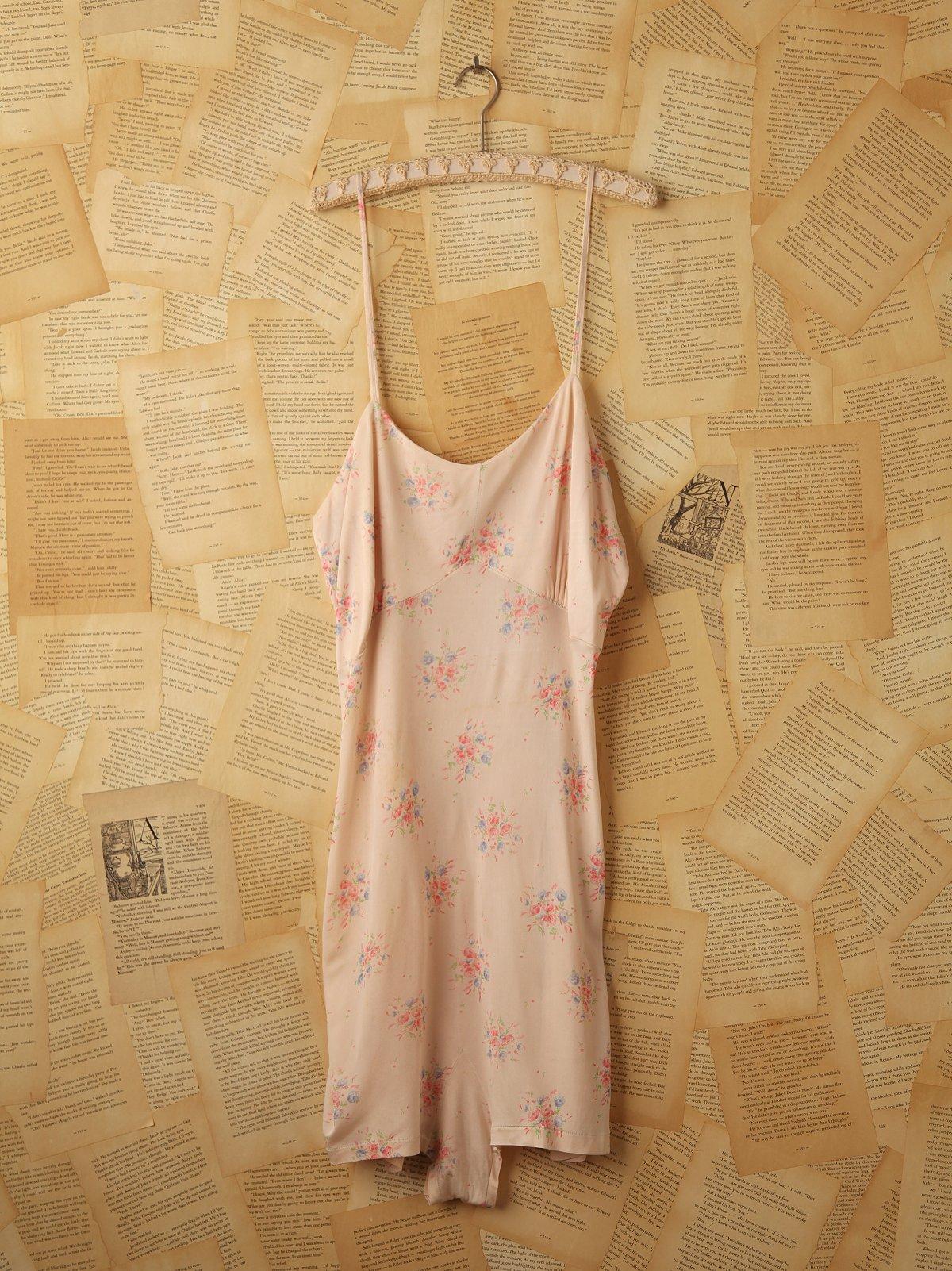 Vintage Silk Floral Nightgown