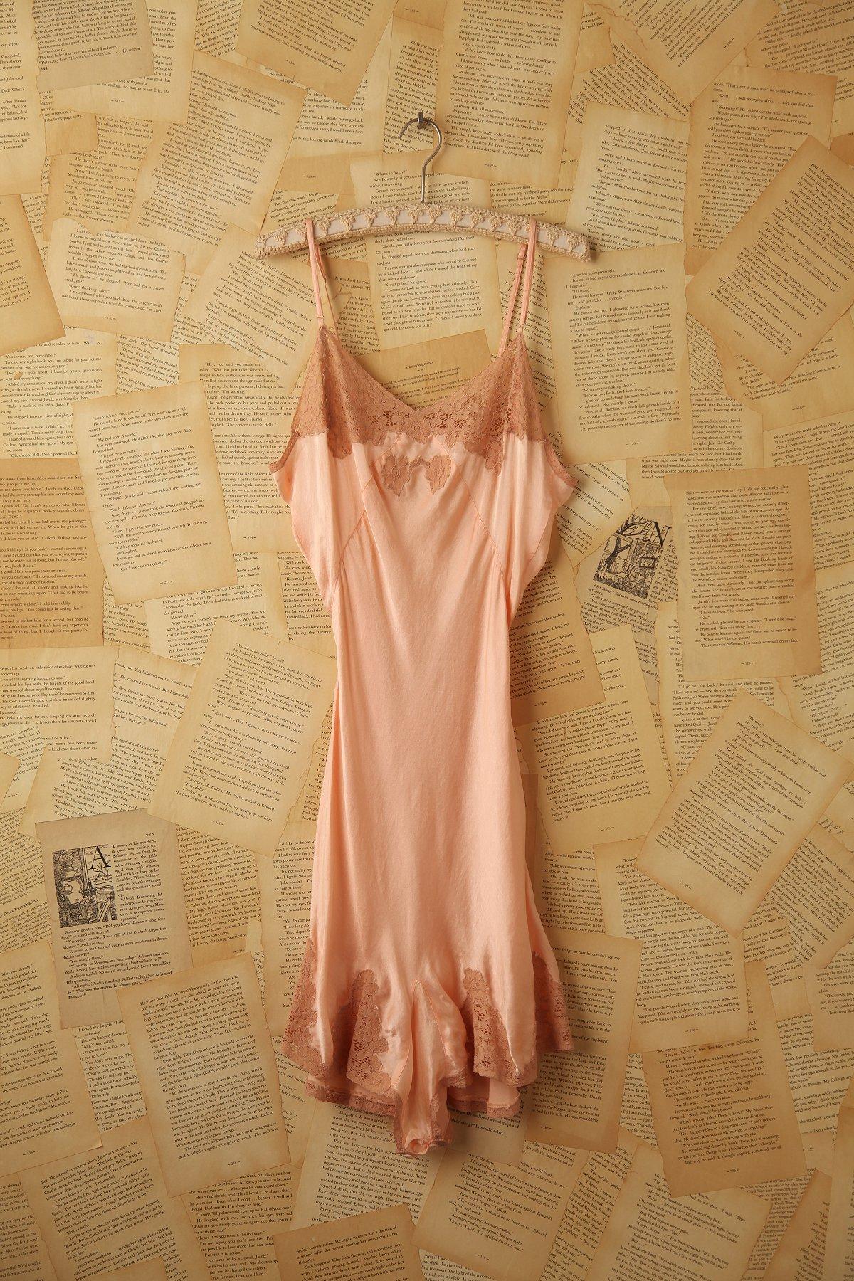 Vintage 1930s Pink Silk Teddy