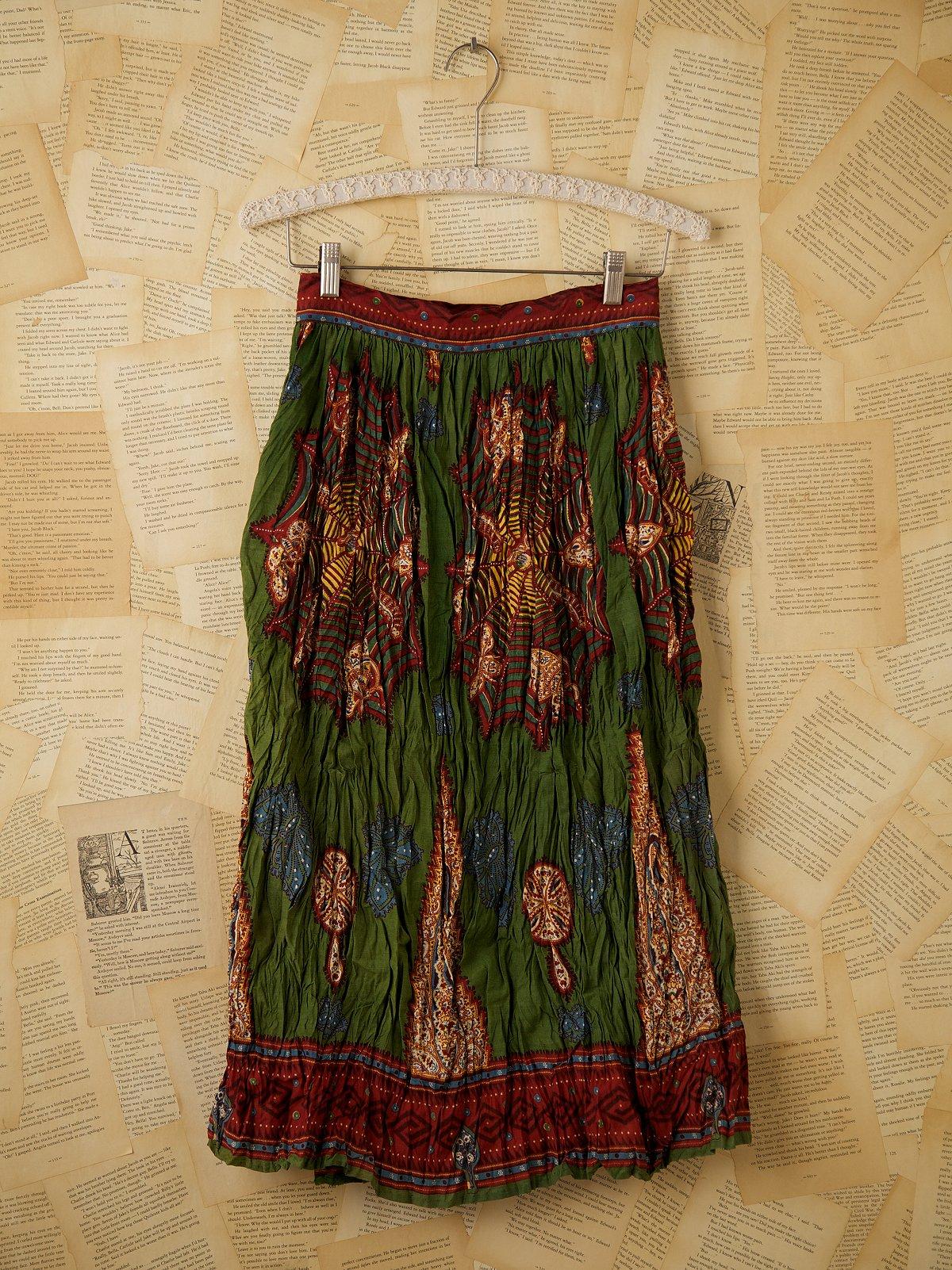 Vintage Long Printed Skirt