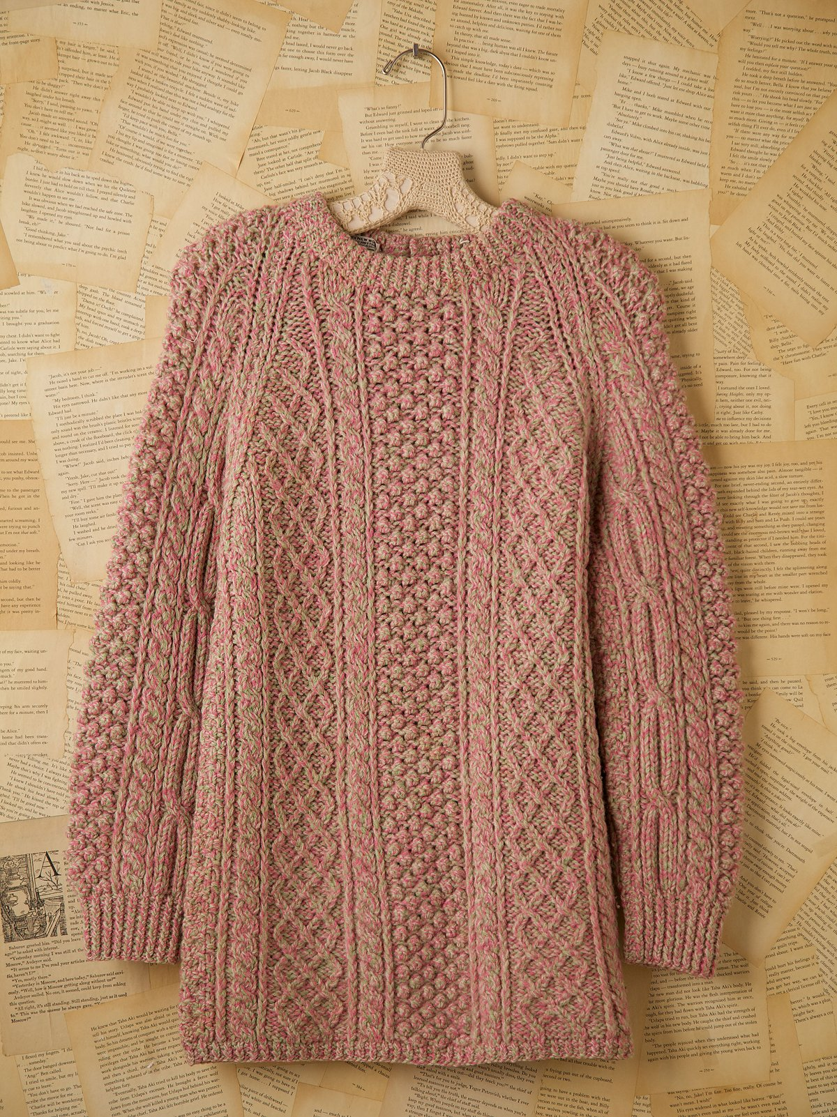Vintage Hand-Knit Fisherman Sweater