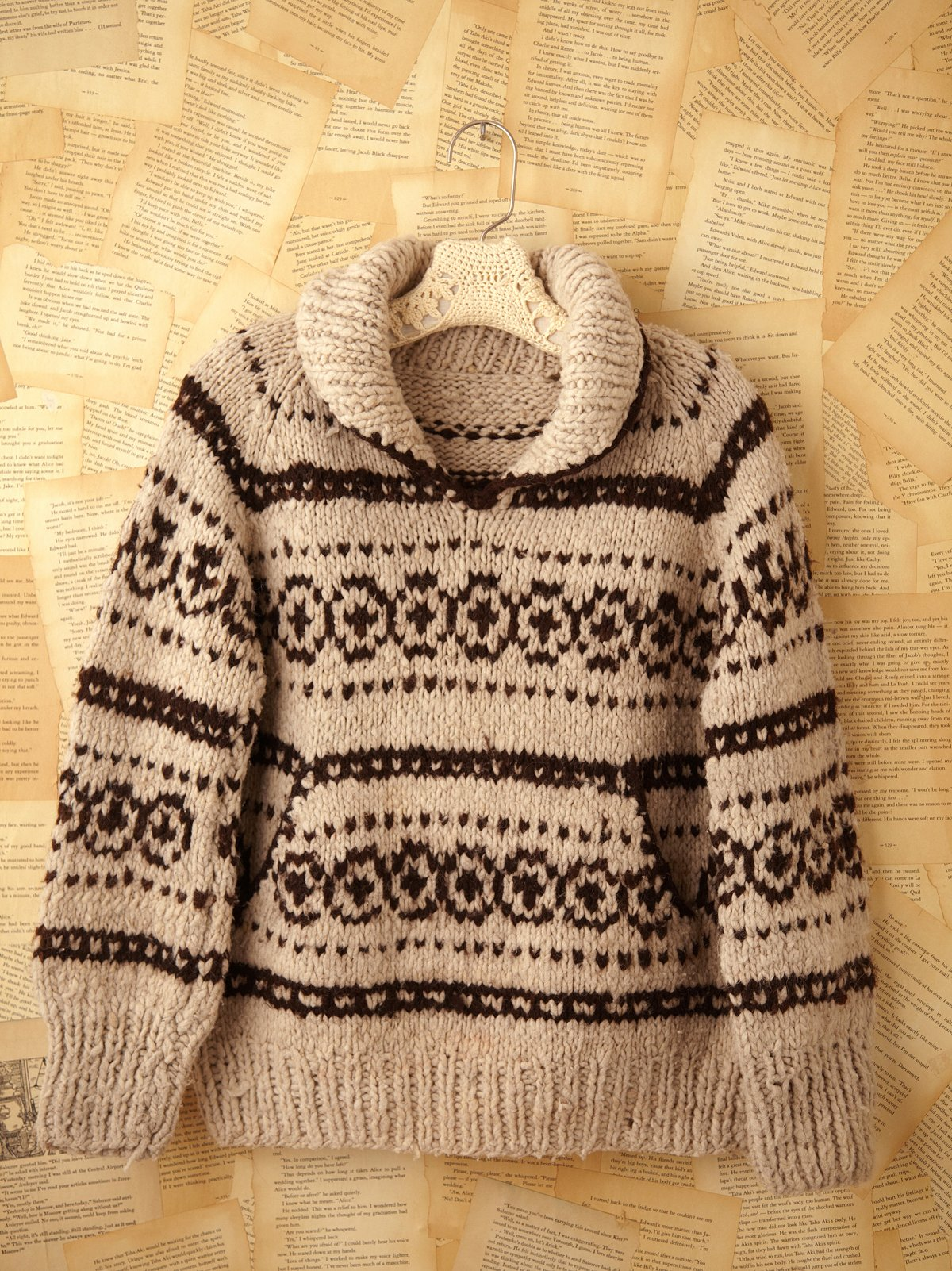 Vintage Hand Knit Pullover Sweater