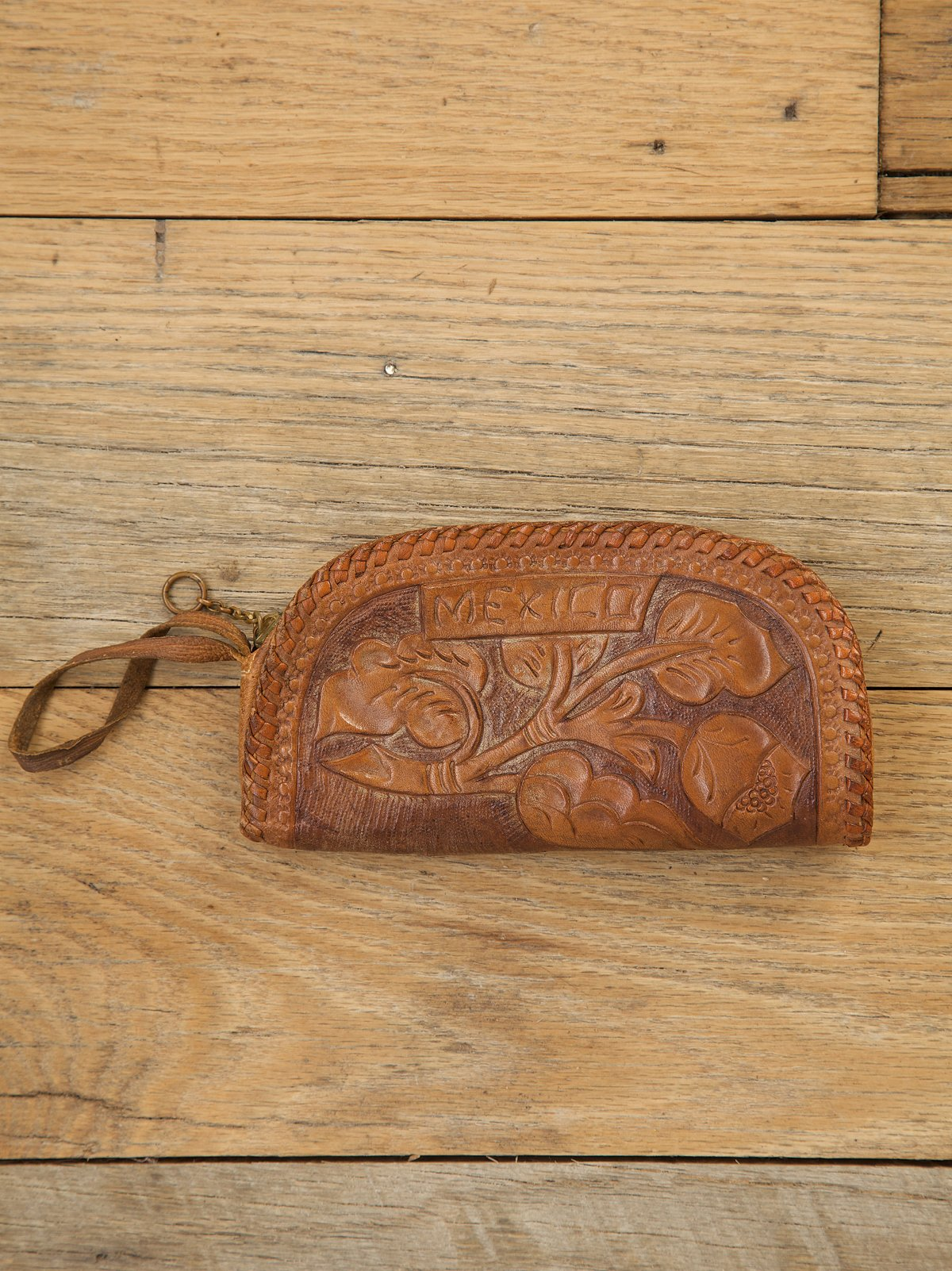 Vintage Tooled Leather Change Purse