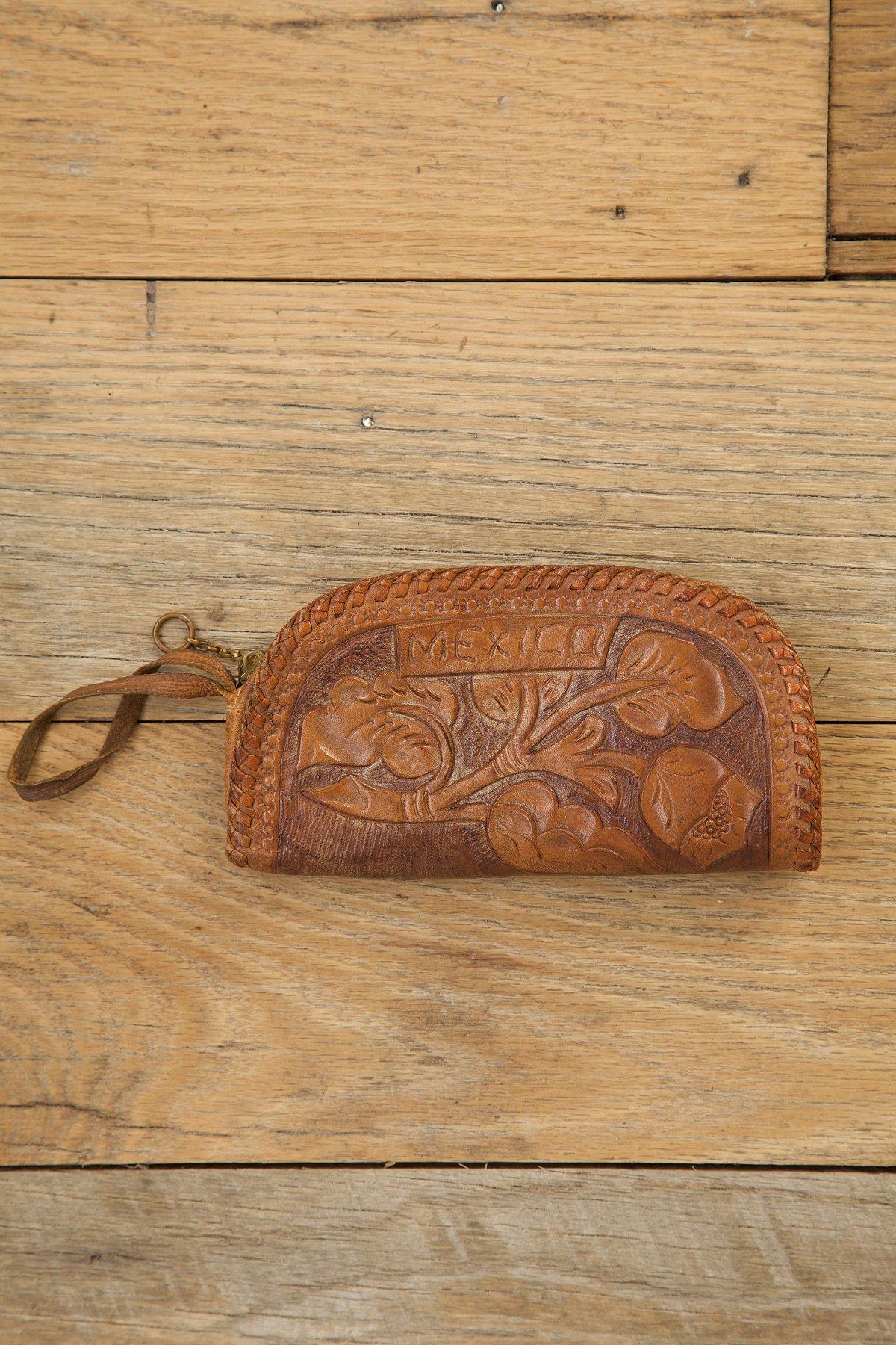 Vintage Tooled Leather Change Purse