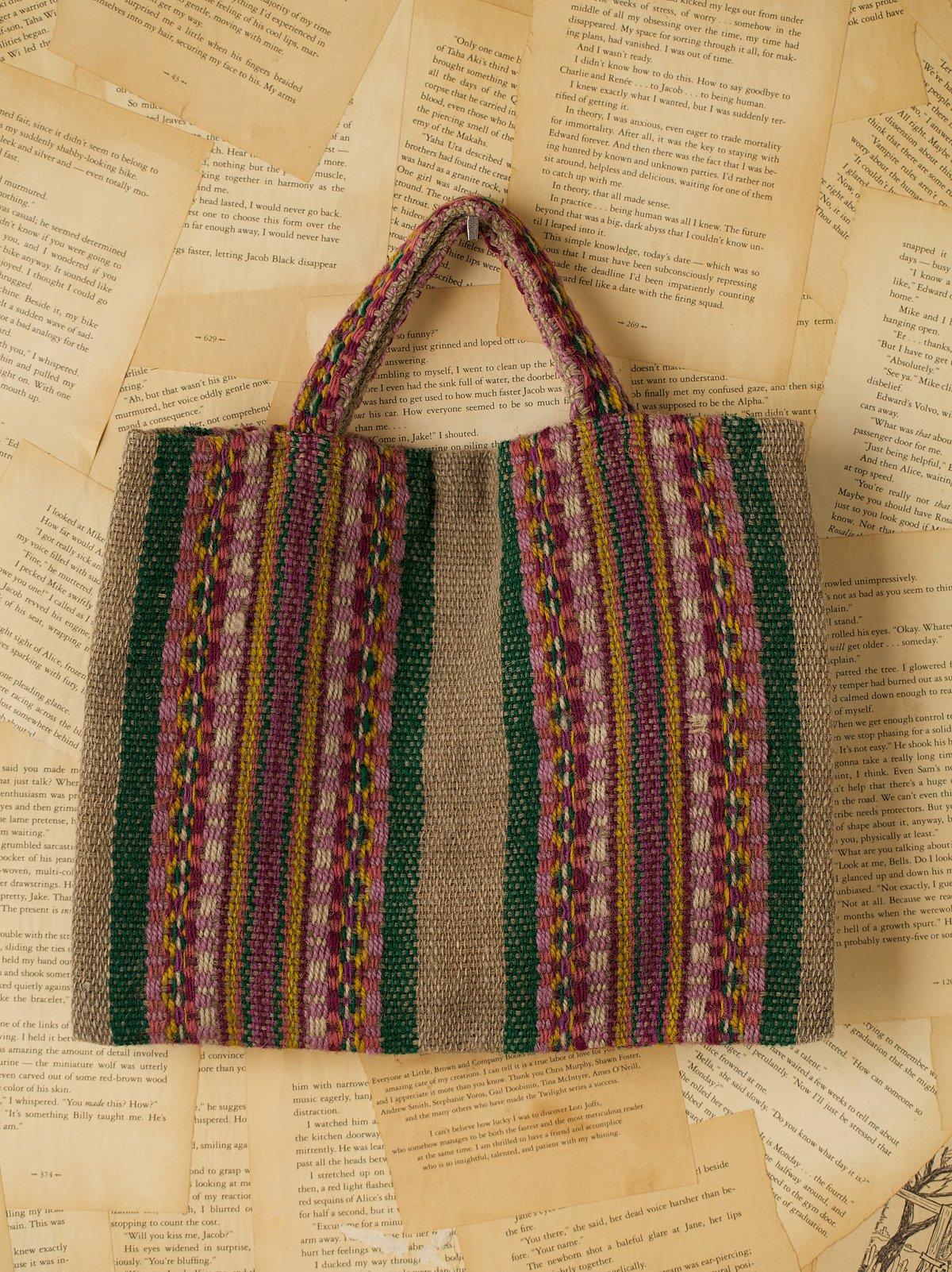 Vintage Woven Wool Bag
