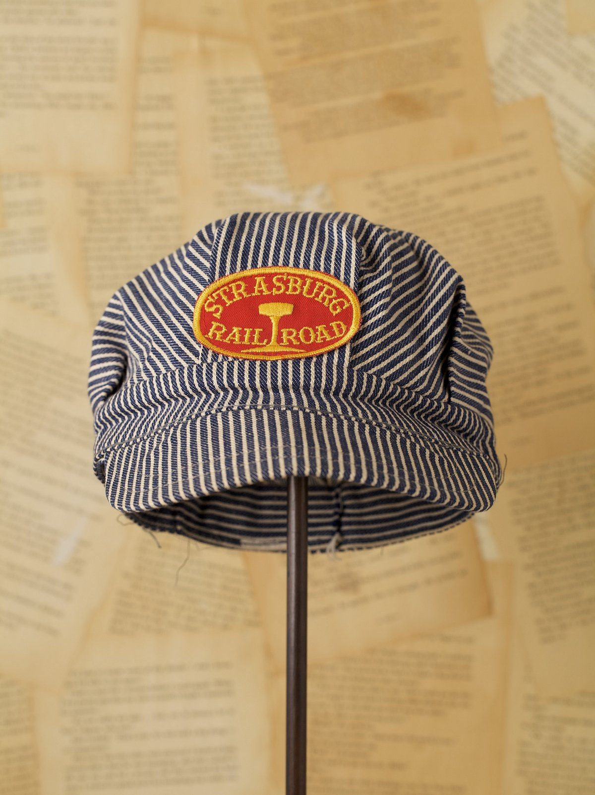 Vintage Hickory Striped Hat Oval